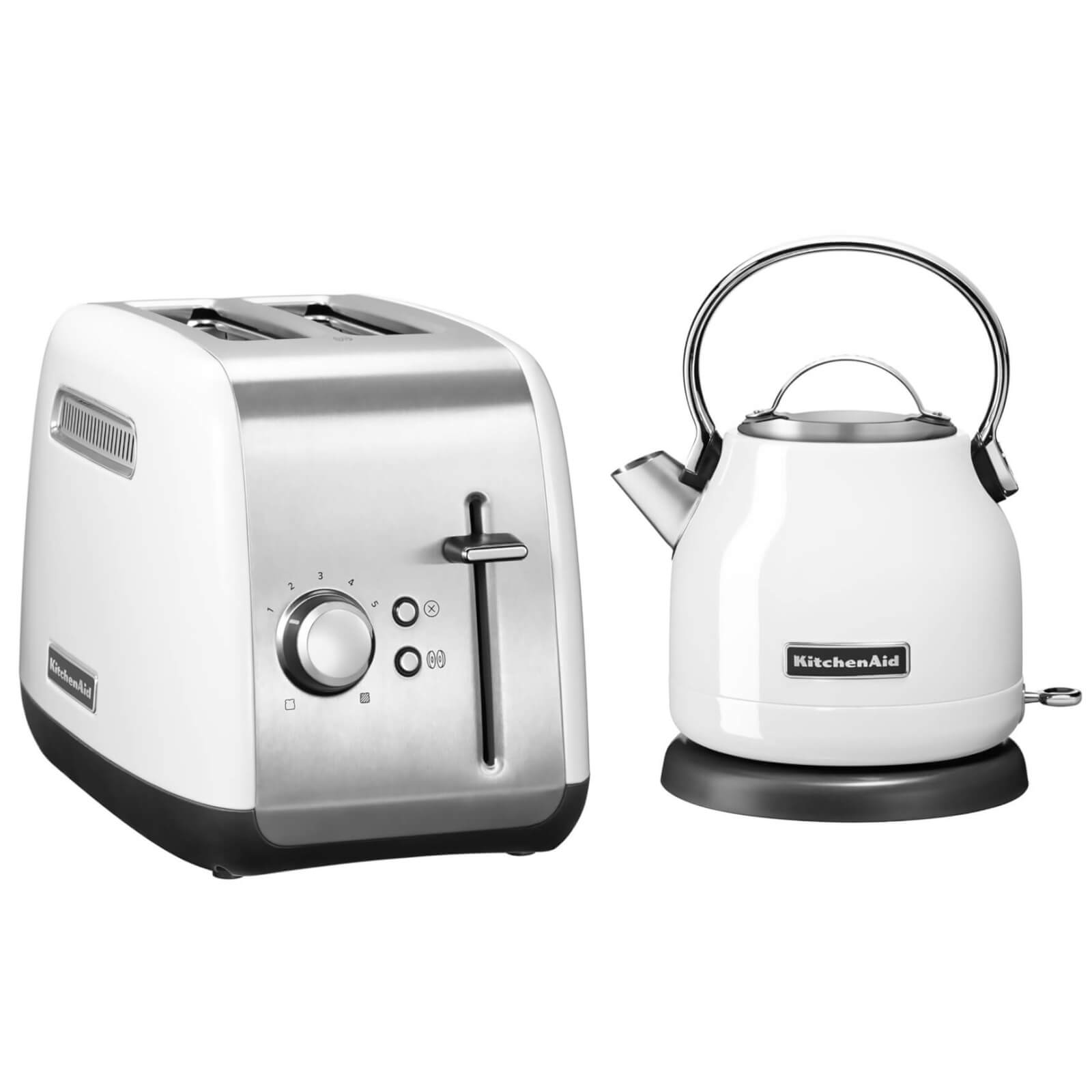 KitchenAid Classic Kettle and 2 Slot Toaster Bundle - White
