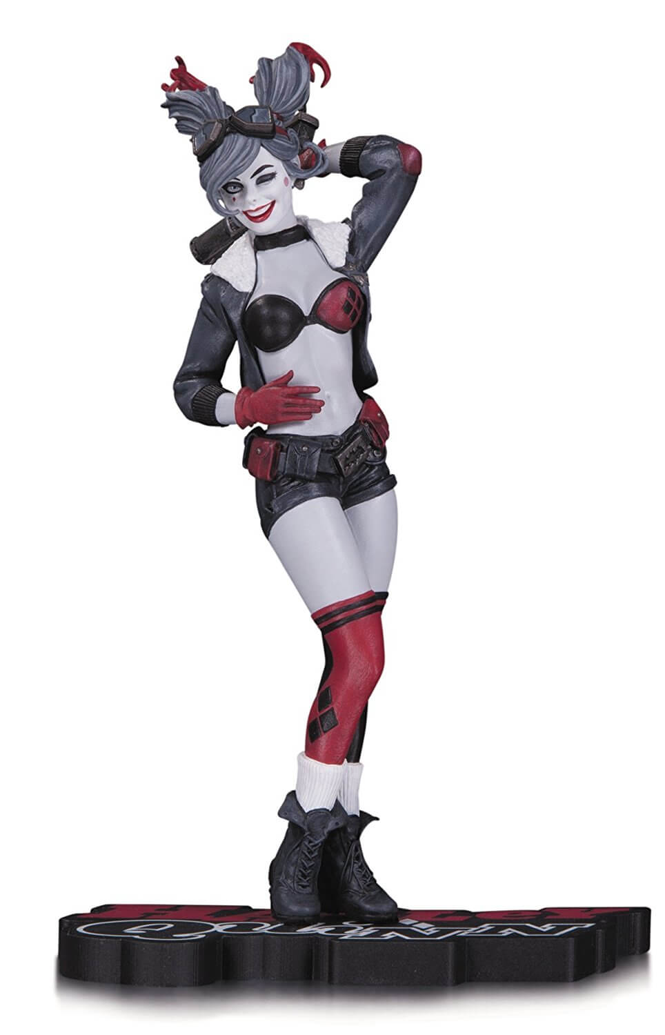 DC Statue Harley Quinn Red White & Black By Ant Lucia