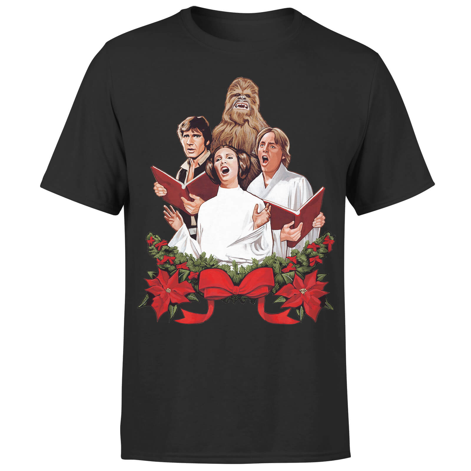 Star Wars Christmas Jedi Carols Black T-Shirt
