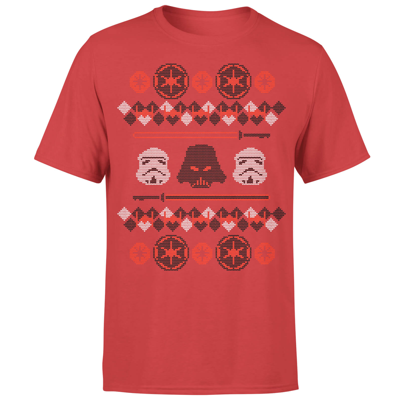 star wars christmas imperial knit red t shirt