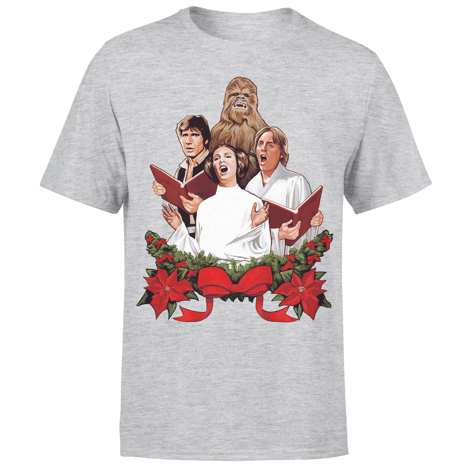 Star Wars Christmas Jedi Carols Grey T-Shirt