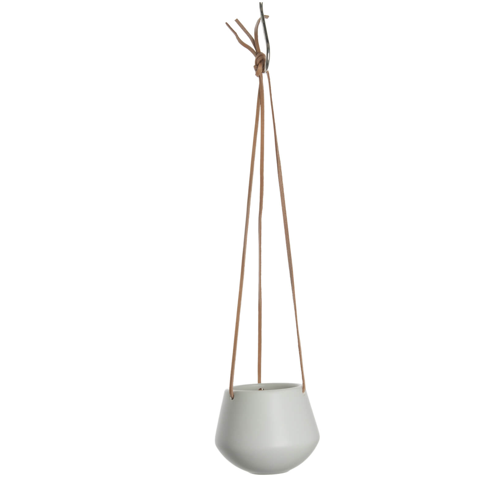 PT Small Ceramic Hanging Pot Skittle - White