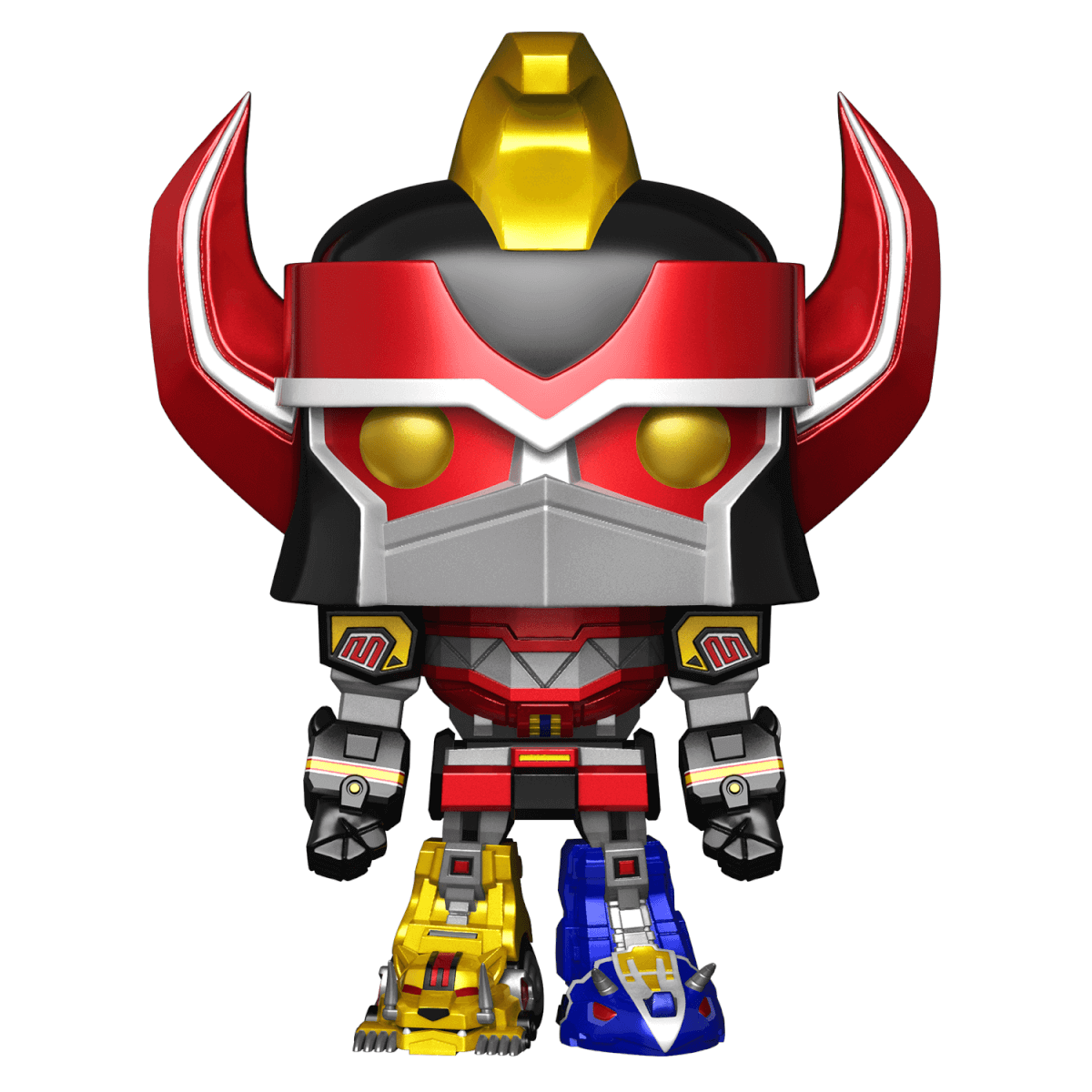 "a475a32b7e4 Mighty Morphin Power Rangers - Megazord 6"" Super Sized Metallic EXC Pop! Vinyl  Figure"