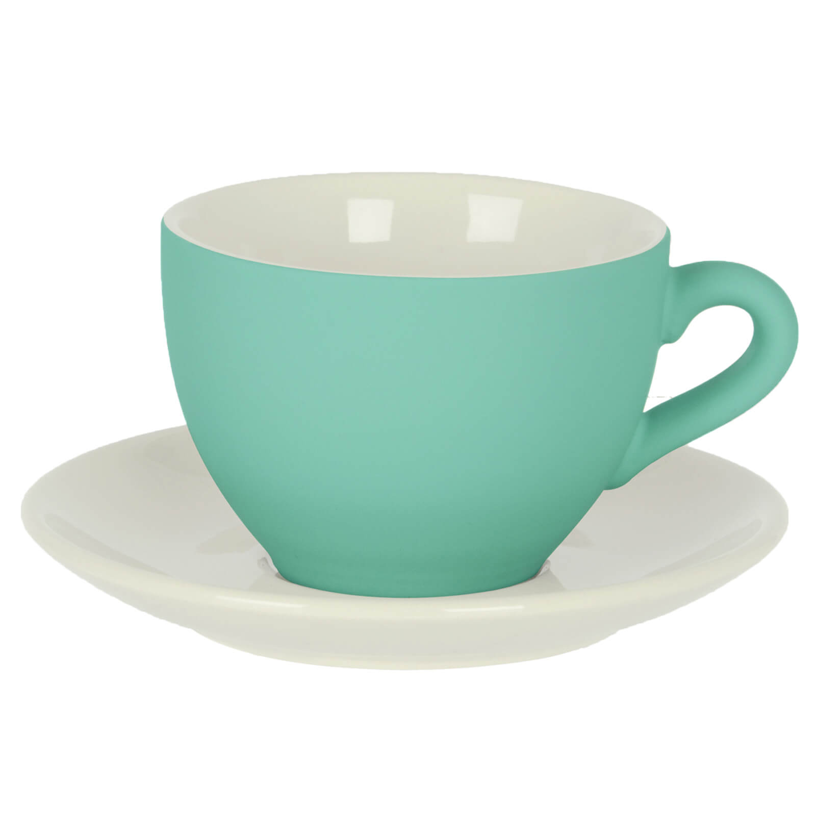 Silk Coffee Cup with Saucer - Sea Green