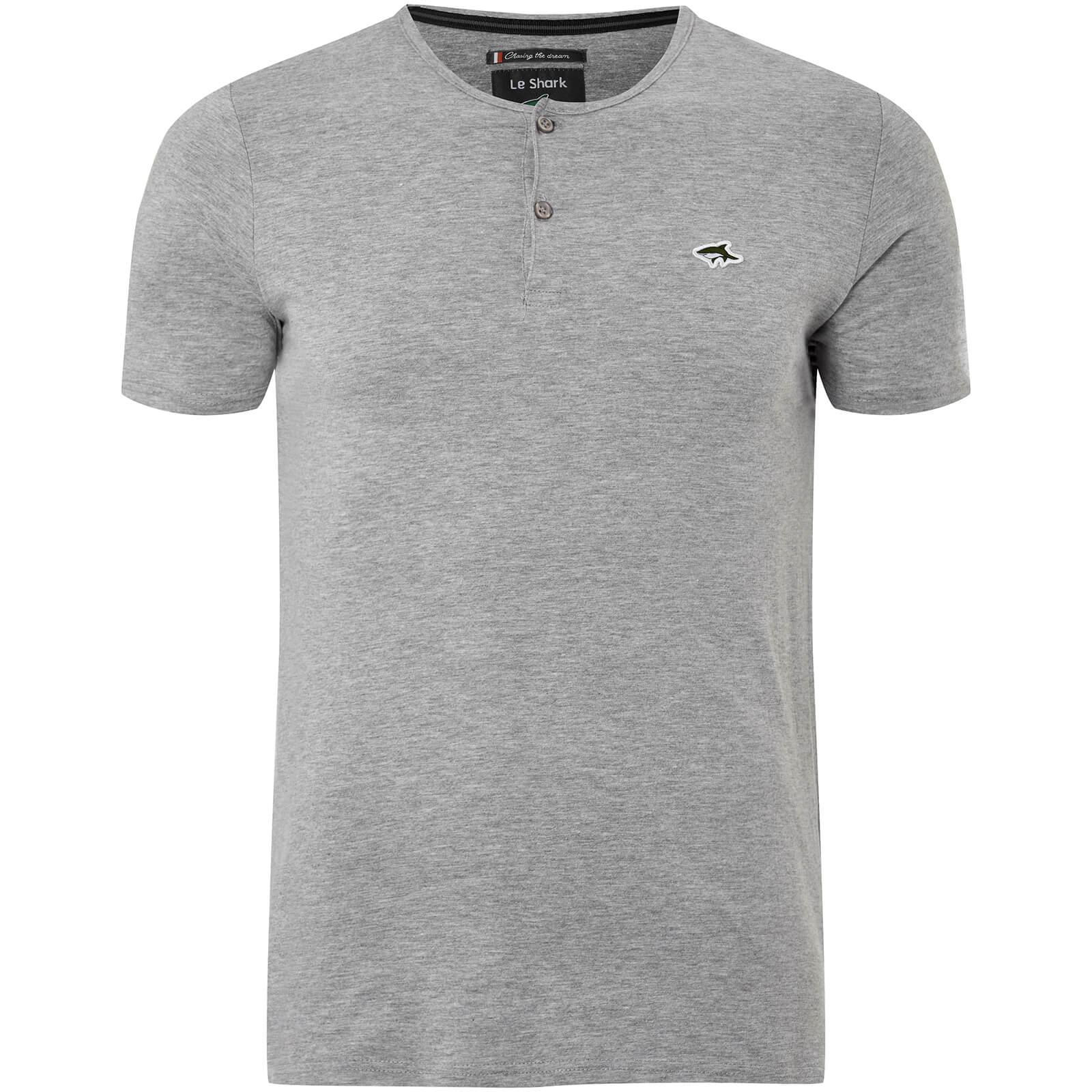 4667064d90fe Le Shark Men's Cook Button Neck T-Shirt - Light Grey Marl Clothing   Zavvi