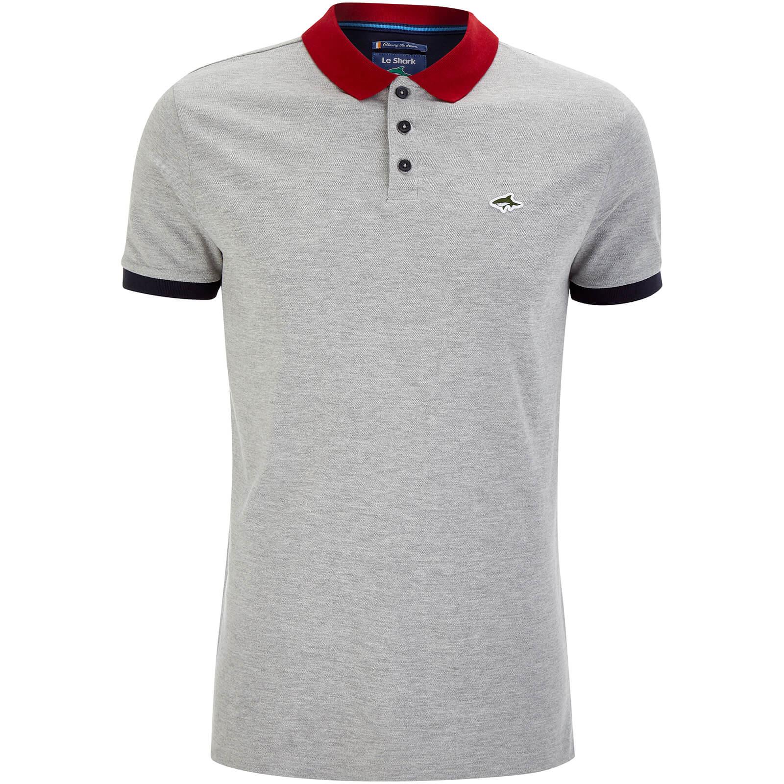 Le Shark Men S Langstone Polo Shirt Light Grey Marl Clothing Zavvi