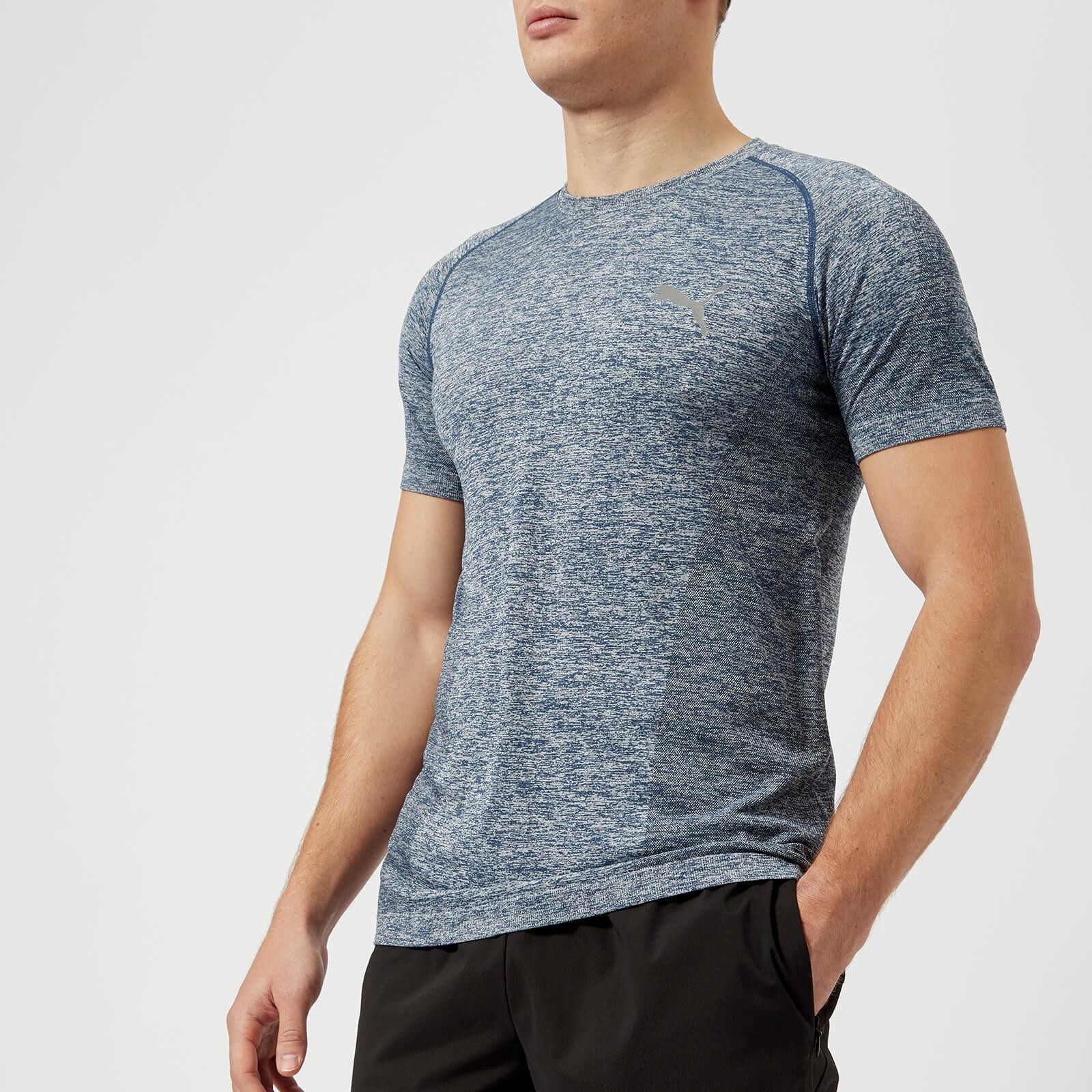 99664b232bc Puma Men's Evoknit Best Short Sleeve T-Shirt - Sargasso Sea Sports &  Leisure | TheHut.com