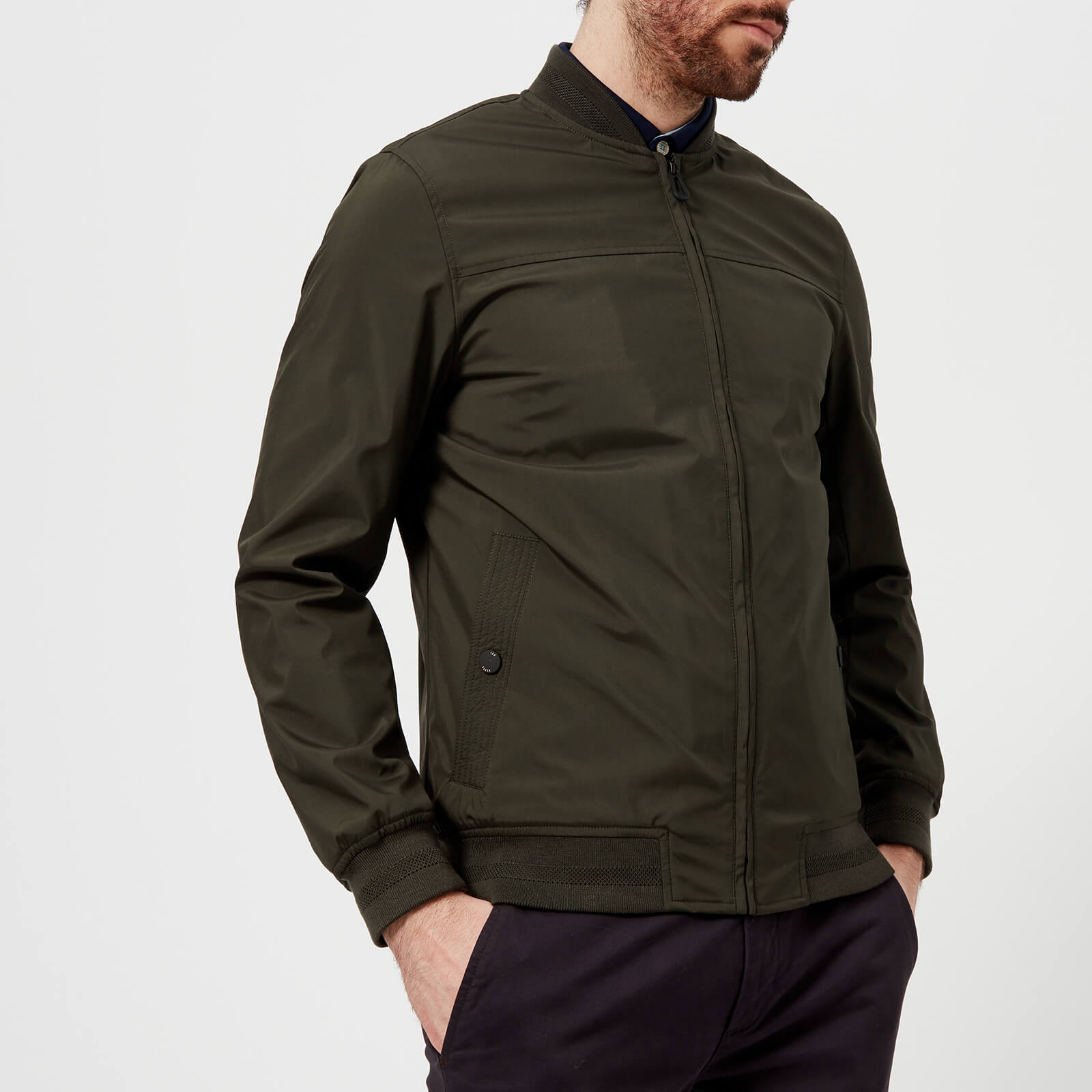 48caeb4ca53a Ted Baker Men s Ohta Core Bomber Jacket - Olive Clothing