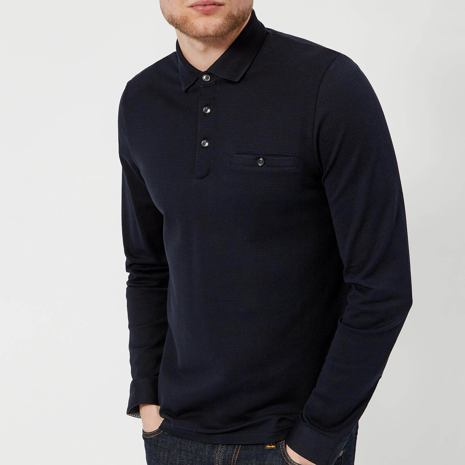 c248d81283c3 Ted Baker Men s Scooby Long Sleeve Polo Shirt - Navy Clothing ...