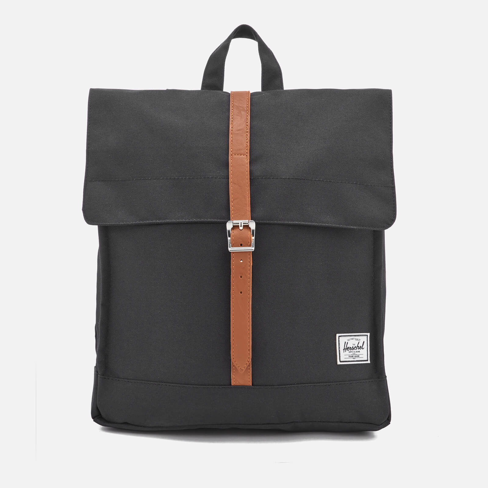 Herschel Supply Co. Men s City Mid-Volume Backpack - Black Tan - Free UK  Delivery over £50 7a006bc0db306