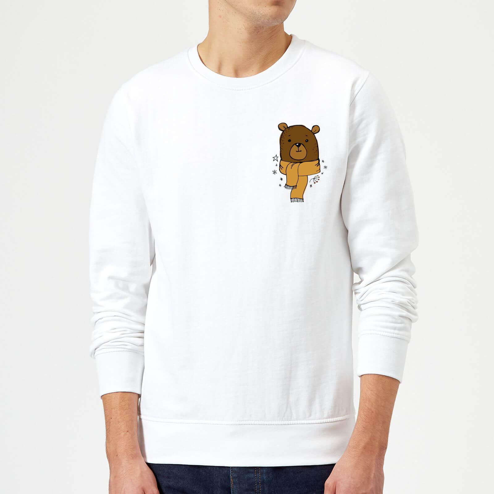 9a9c2dfcfaa Christmas Bear Pocket Sweatshirt - White Clothing