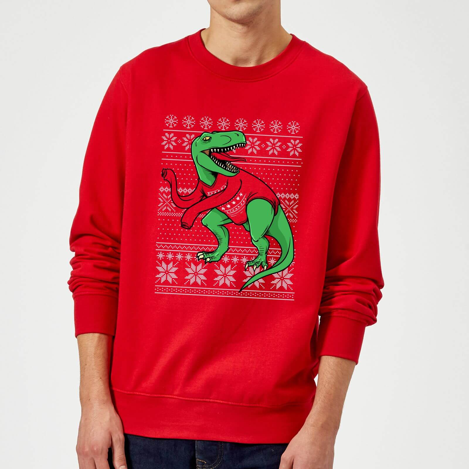 Kersttrui 68.T Rex Sleeves Sweatshirt Red Clothing Zavvi Australia