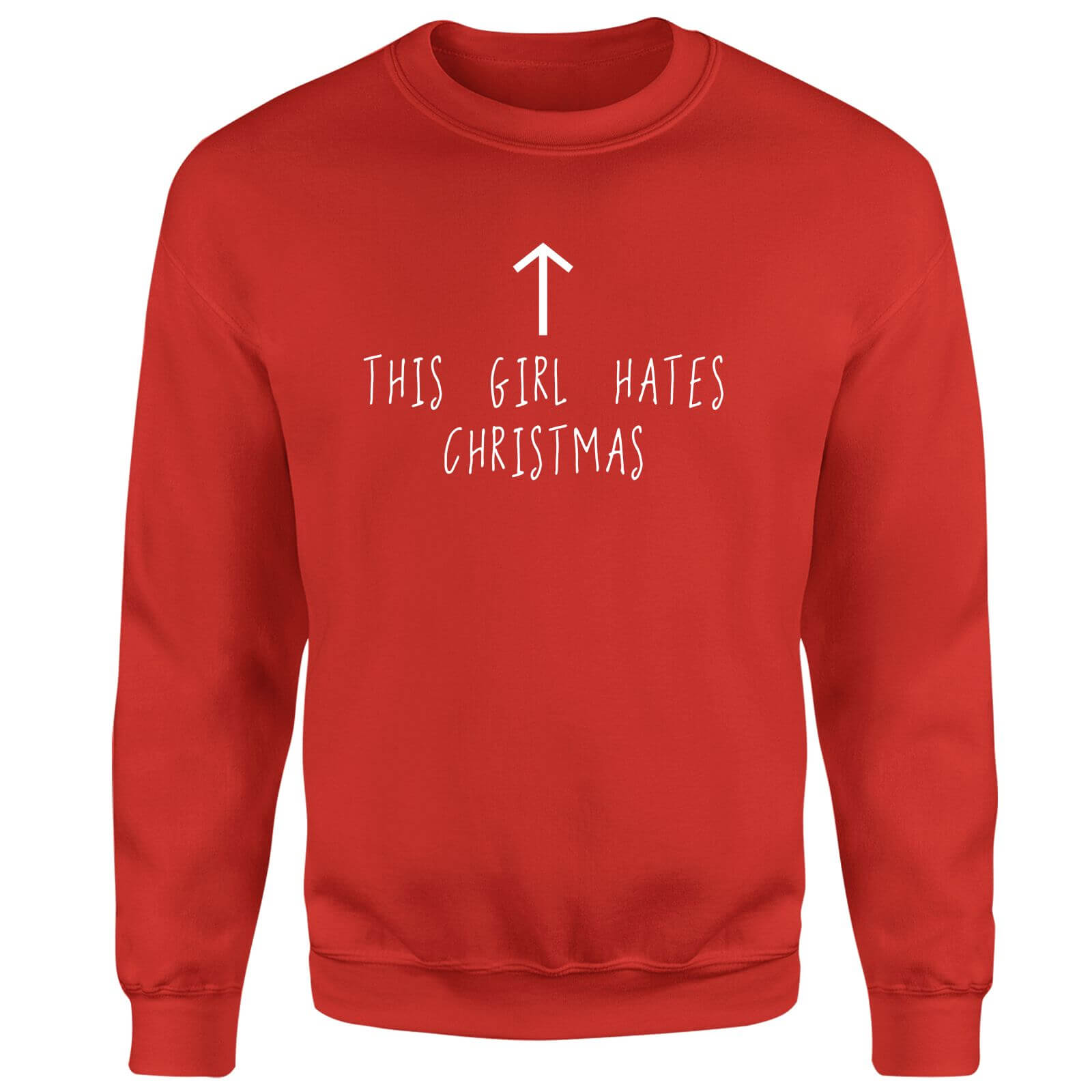 This Girl Hates Christmas Sweatshirt - Red