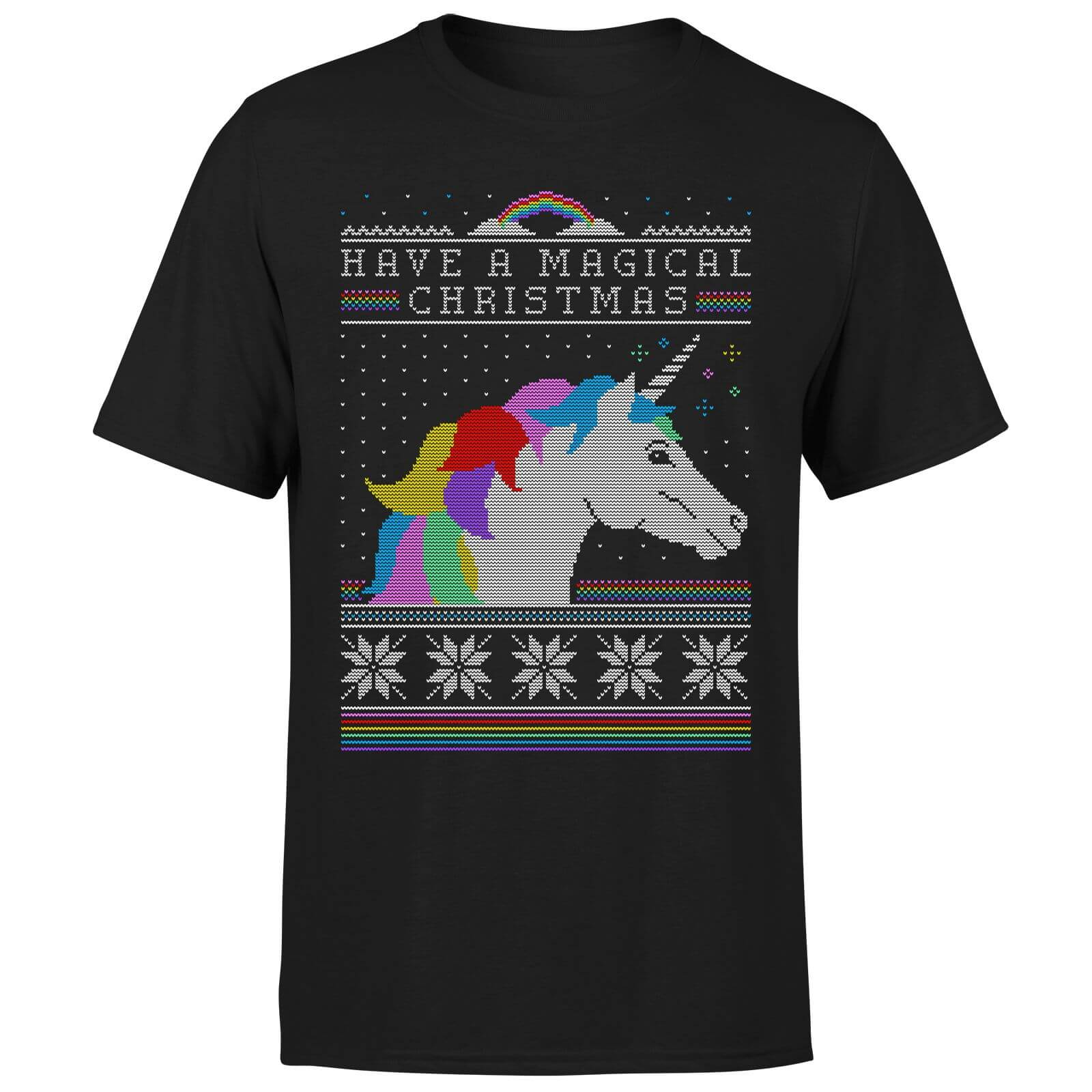 Have a magical Christmas Fair isle T-Shirt - Black