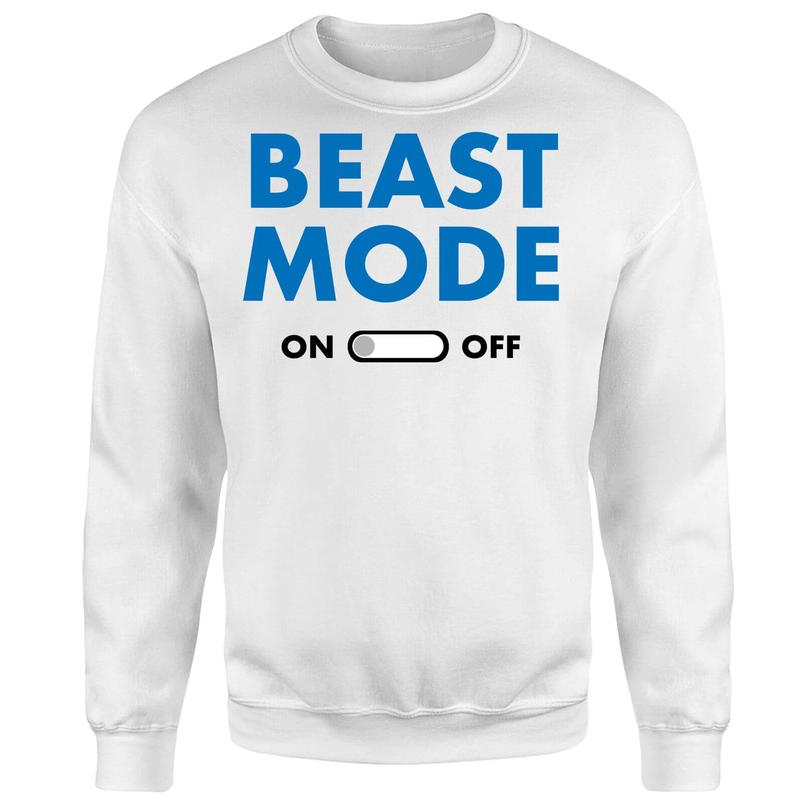 Beast Mode On Sweatshirt - White