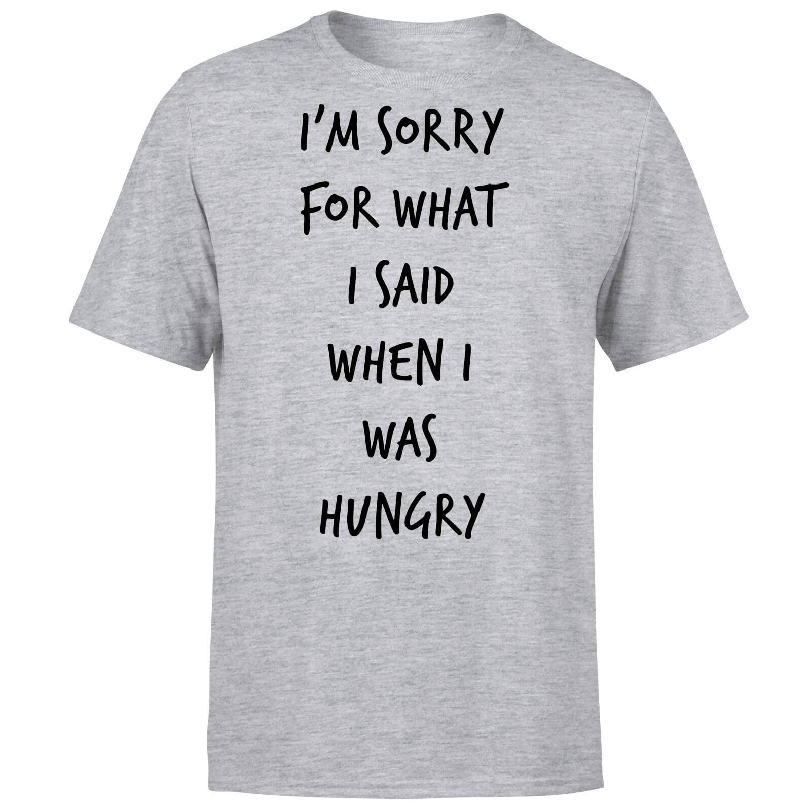 ea7bb05a7e75 Im sorry for what I Said when Hungry T-Shirt - Grey | IWOOT