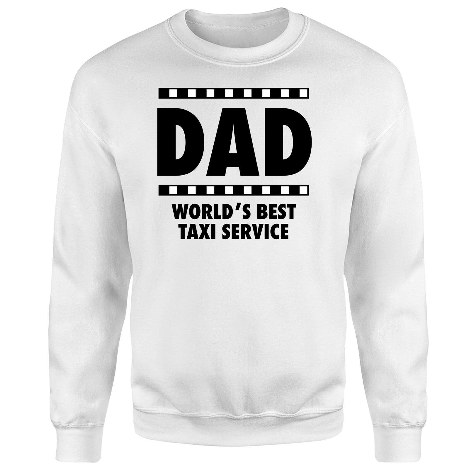 Dad Taxi Service Sweatshirt - White
