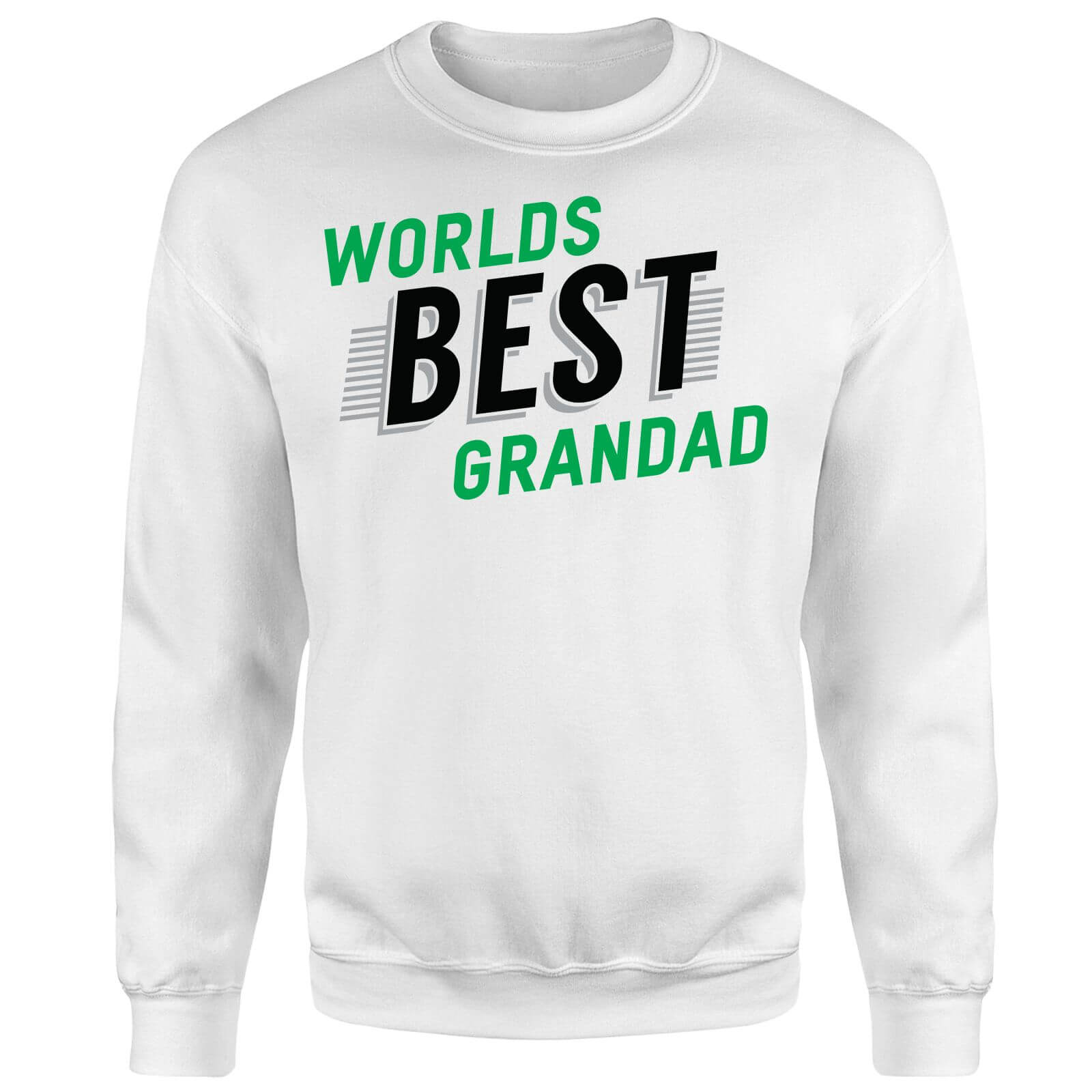 Worlds Best Grandad Sweatshirt - White