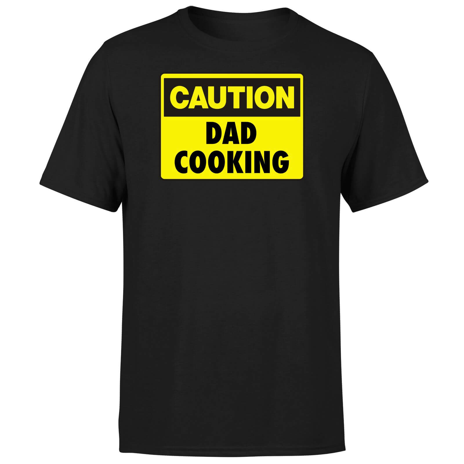 Caution Dad Cooking - Black T-Shirt