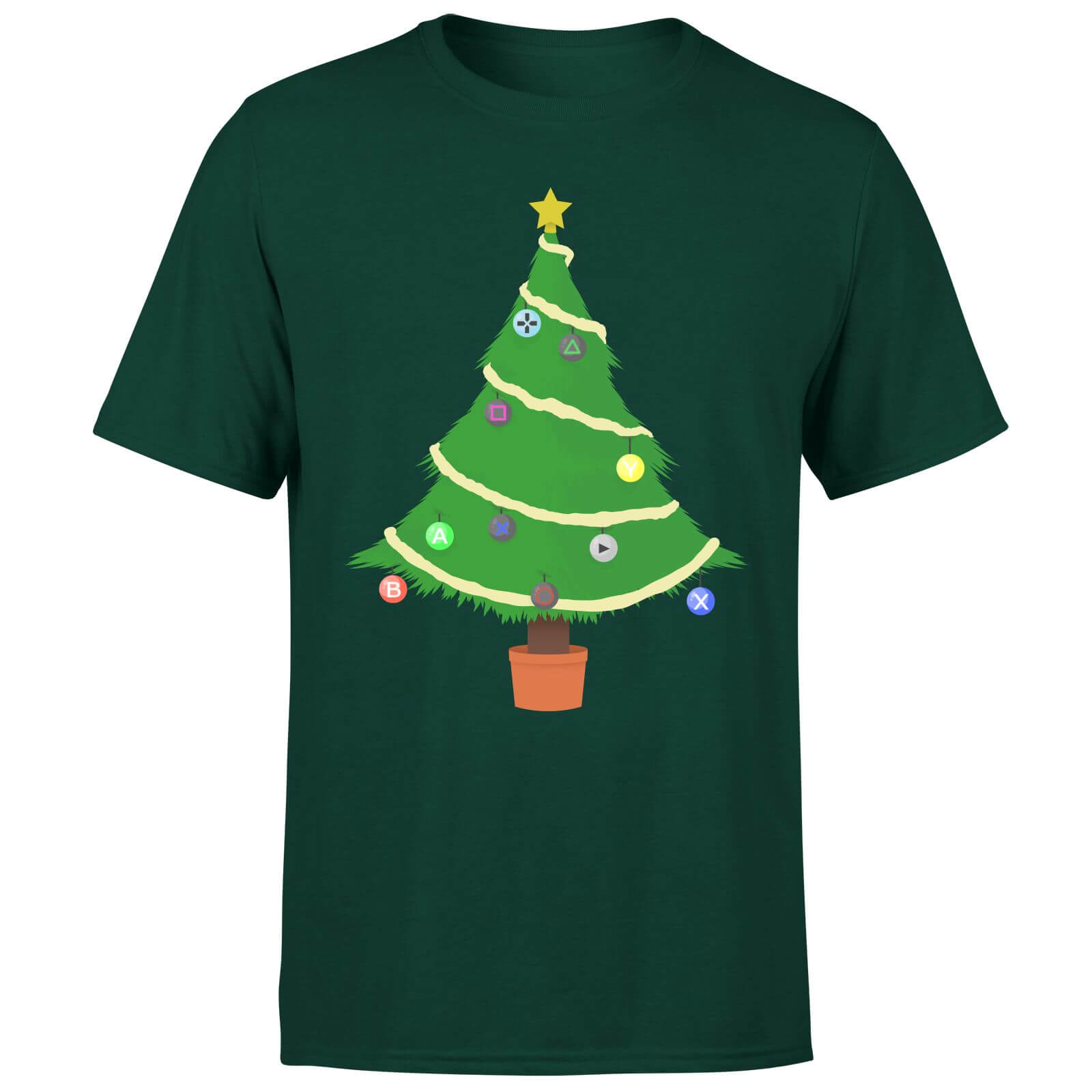 Buttons Tree T-Shirt - Forest Green