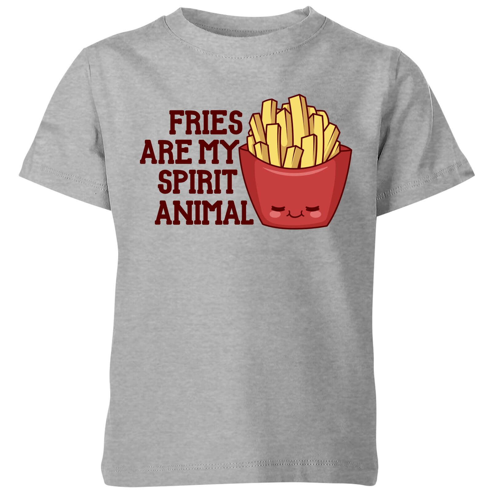 Fries Are My Spirit Animal Kids T-Shirt - Grey