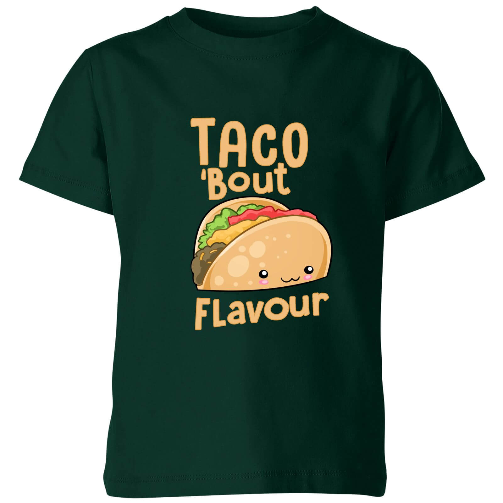 Taco Bout Flavour Kids T-Shirt - Forest Green
