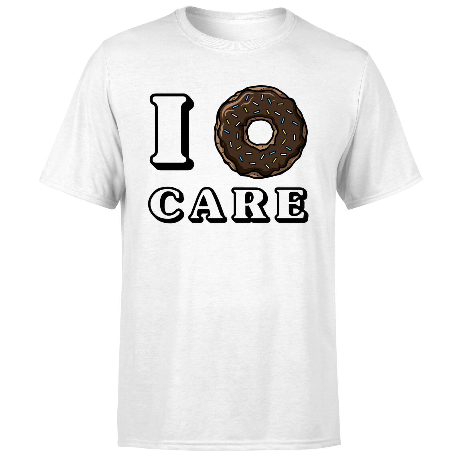 I Donut Care T-Shirt - White
