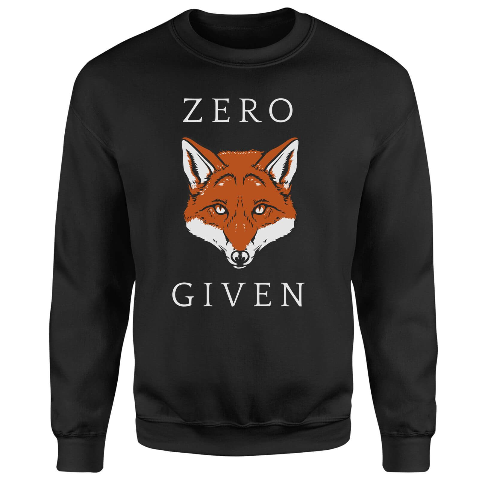 Zero Fox Given Sweatshirt - Black
