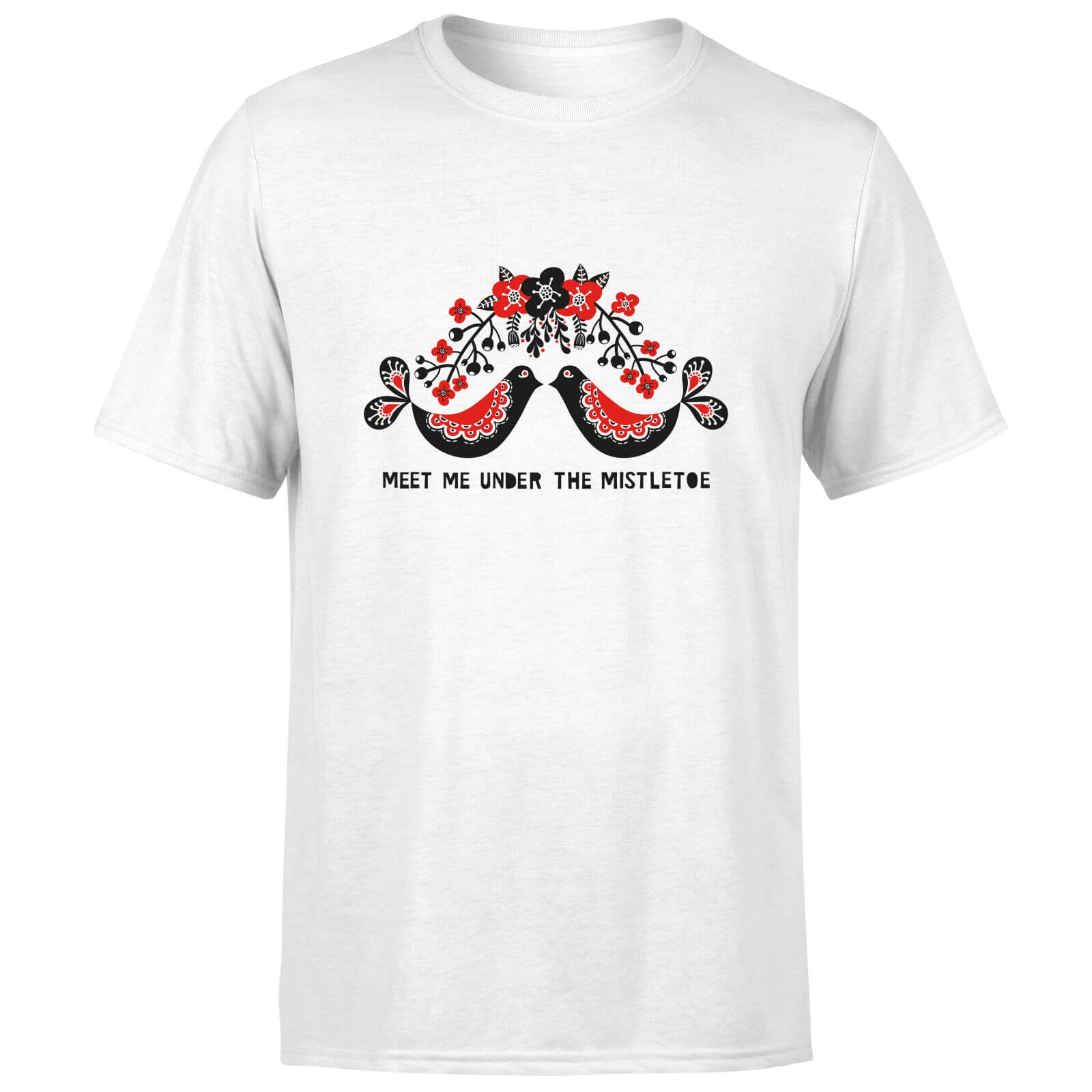 Meet Me Underneath The Mistletoe T-Shirt - White