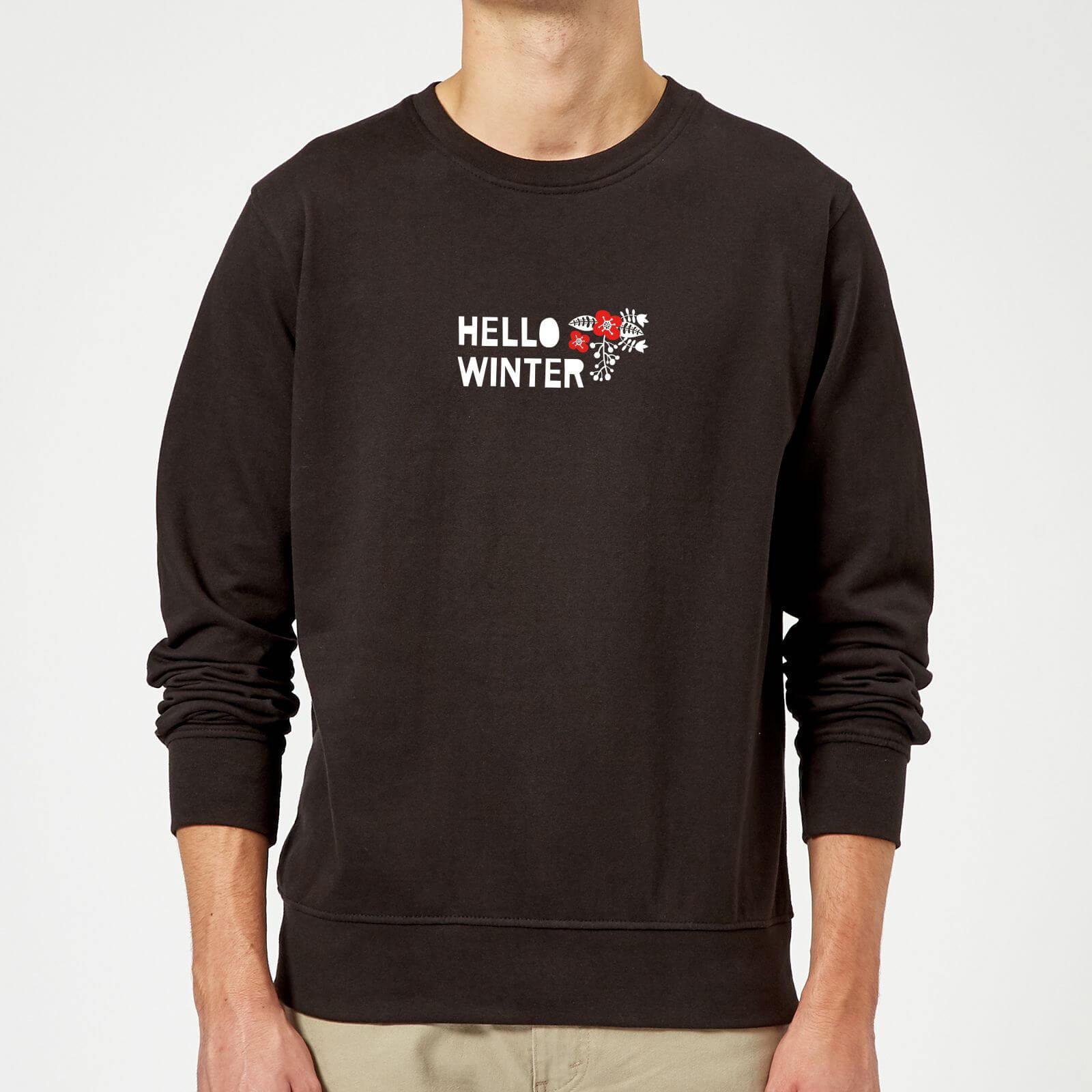 new styles 79704 981b9 Hello Winter Sweatshirt - Black Clothing  Zavvi US