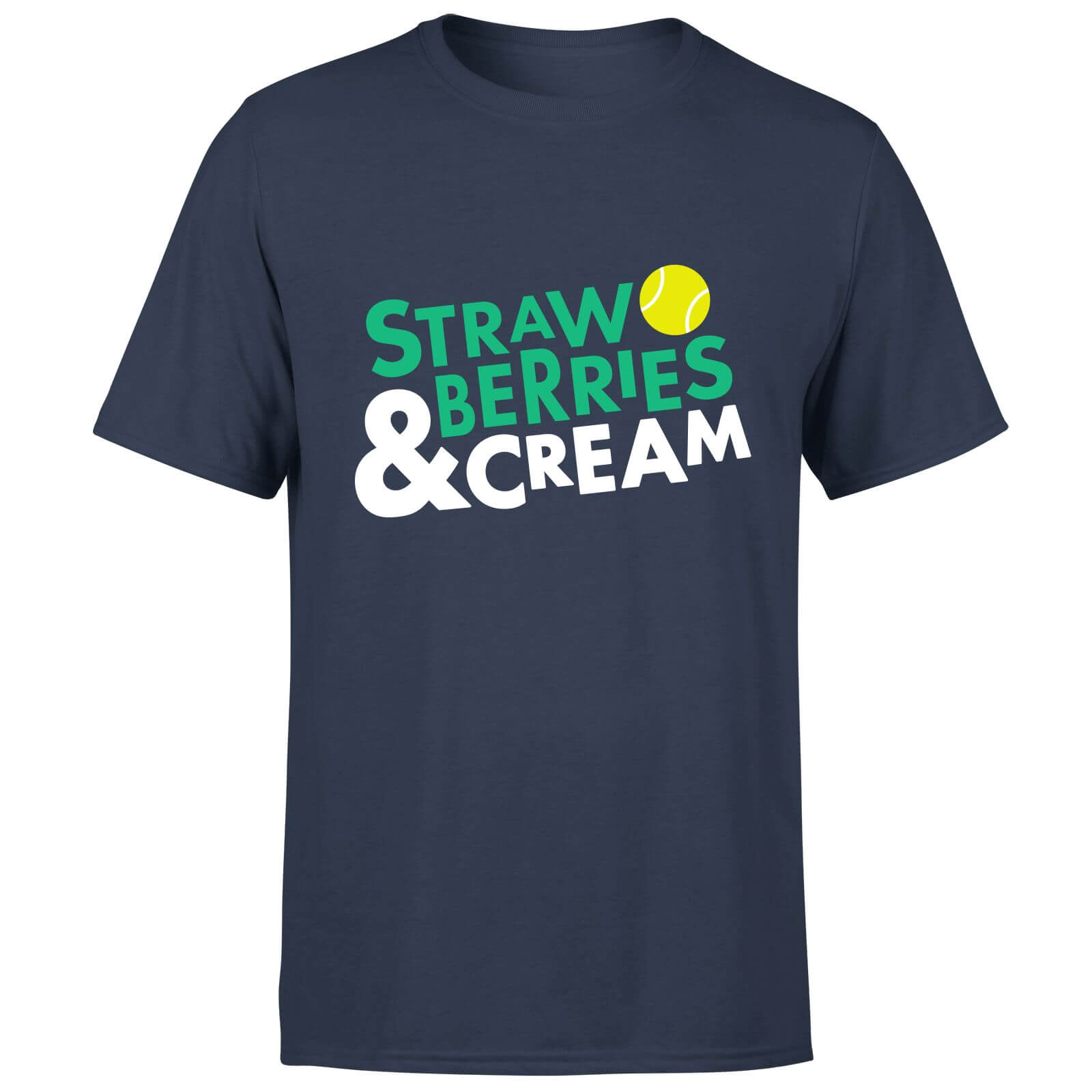 Strawberries and Cream T-Shirt - Navy