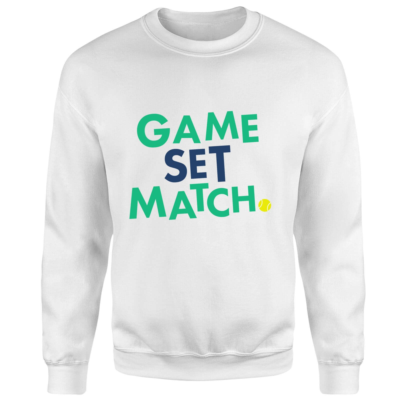 Game Set Match Sweatshirt - White