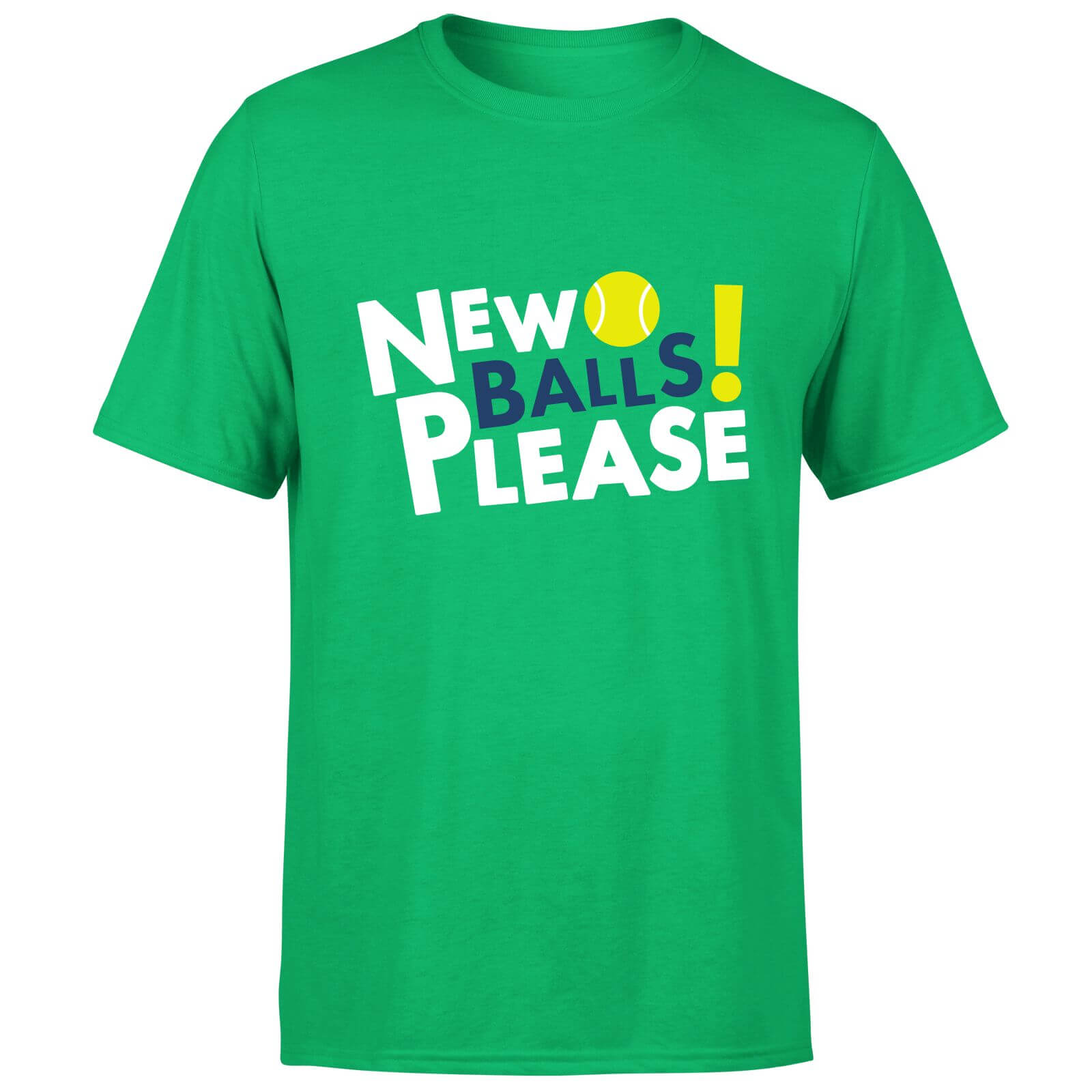 New Balls Please T-Shirt - Kelly Green