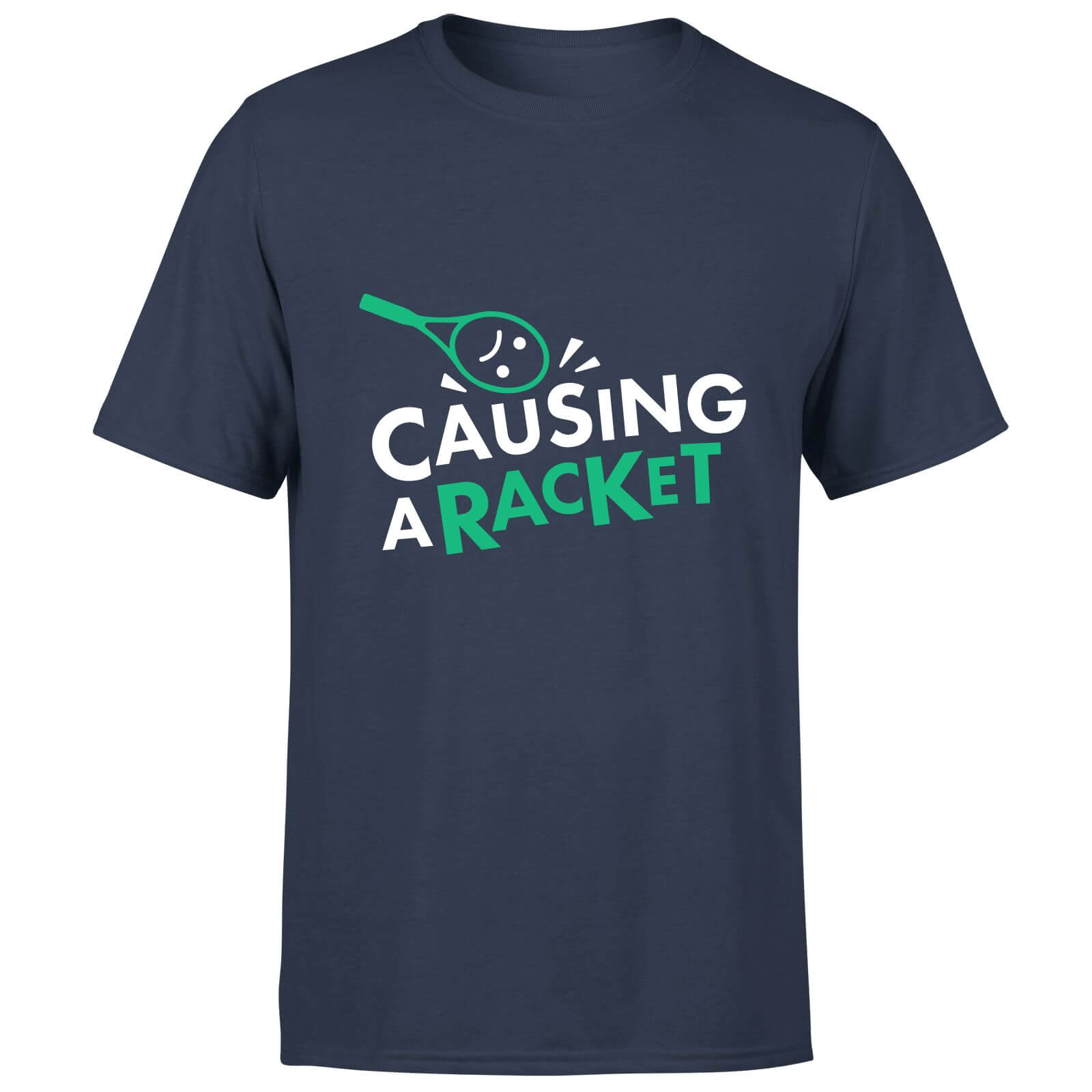 Causing a Racket T-Shirt - Navy
