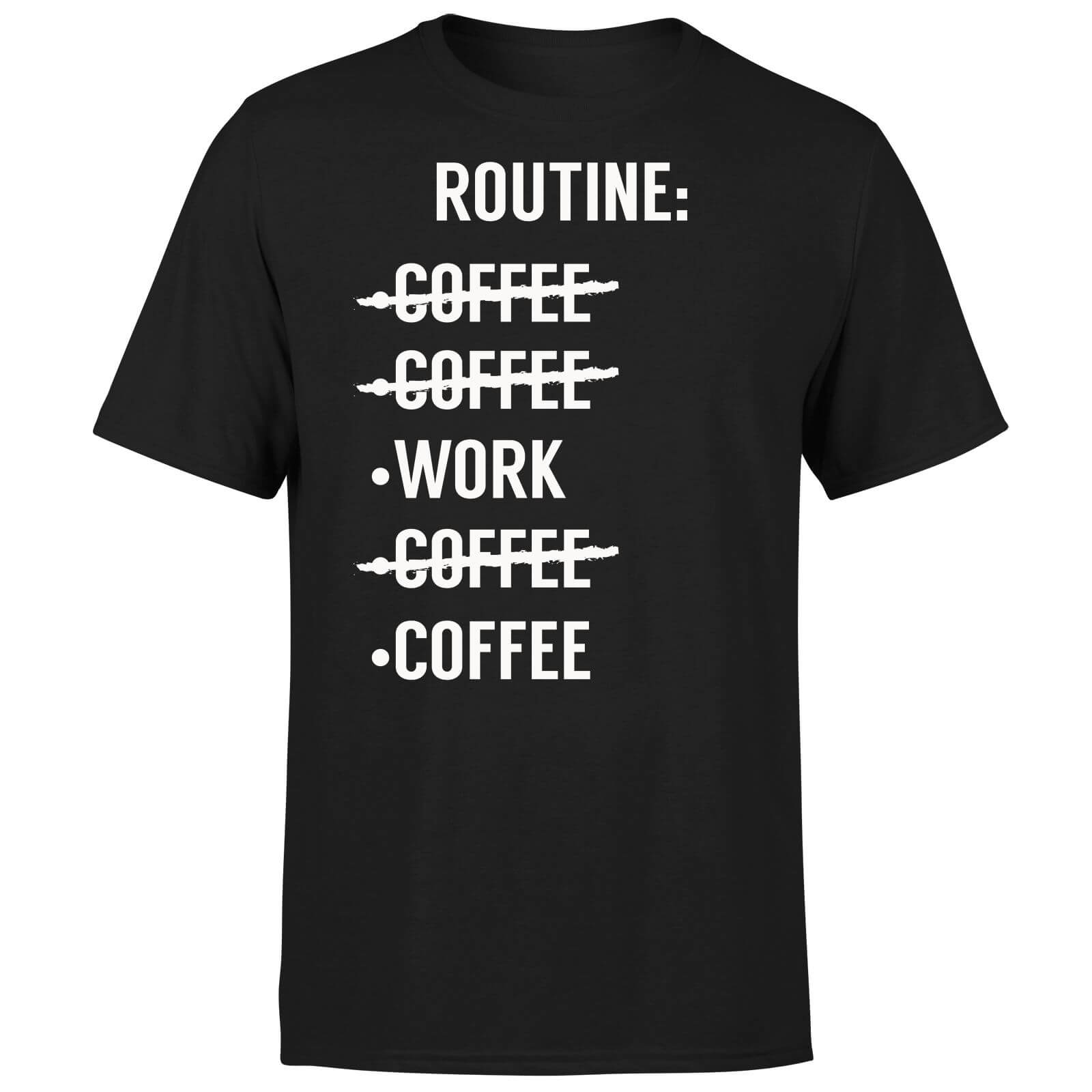 Coffee Routine T-Shirt - Black