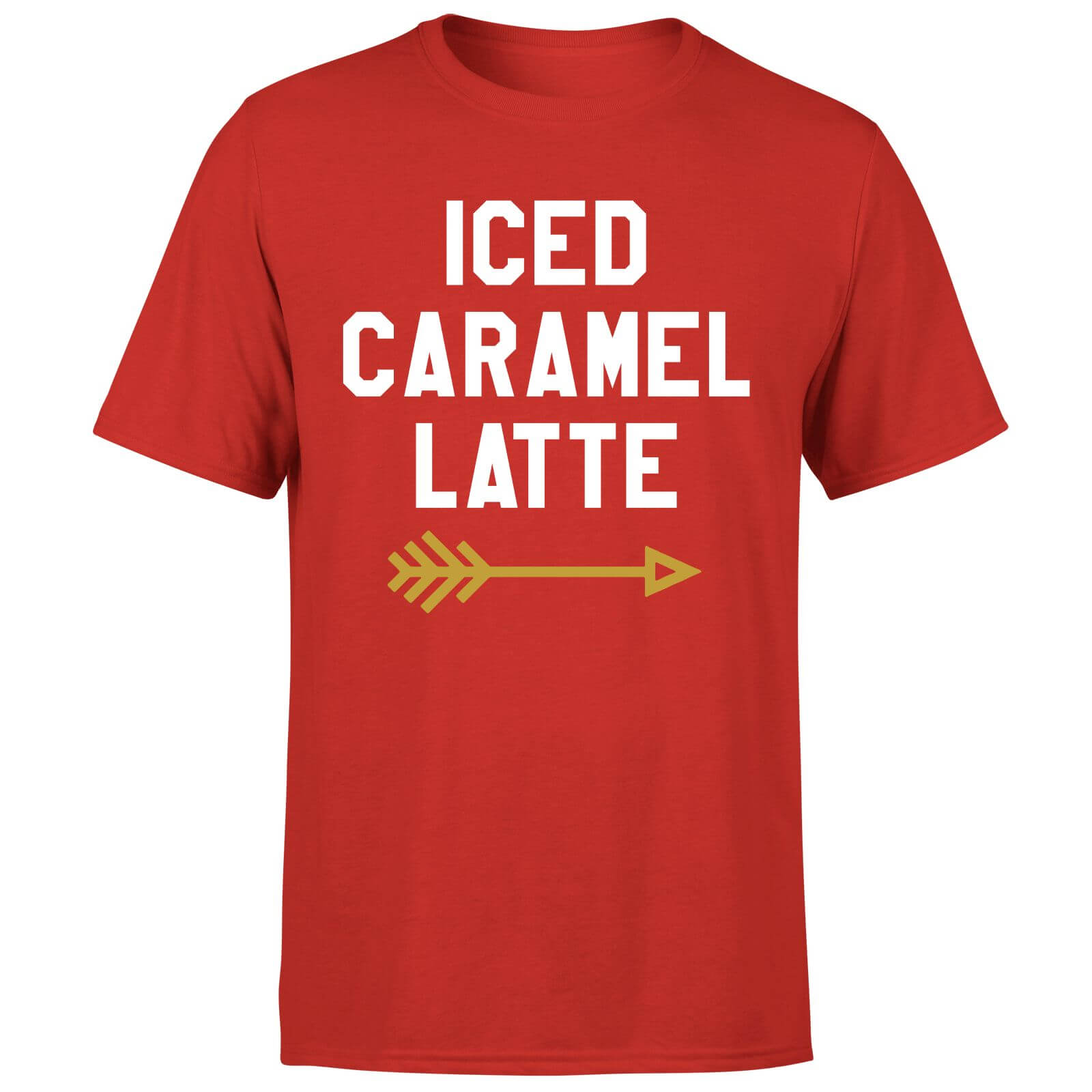 Iced Caramel Latte T-Shirt - Red