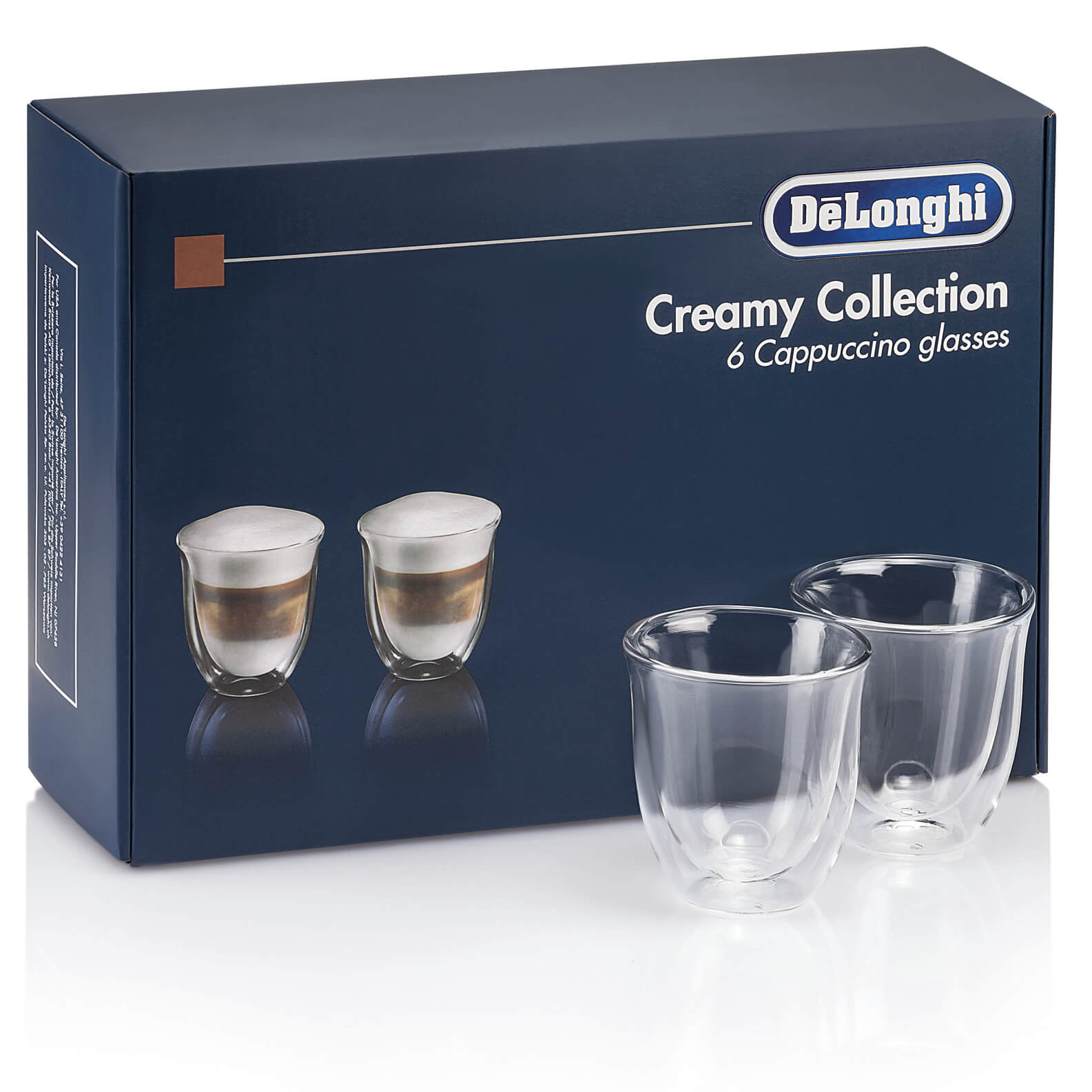 Delonghi Creamy Collection - 6 Cappuccino Glasses