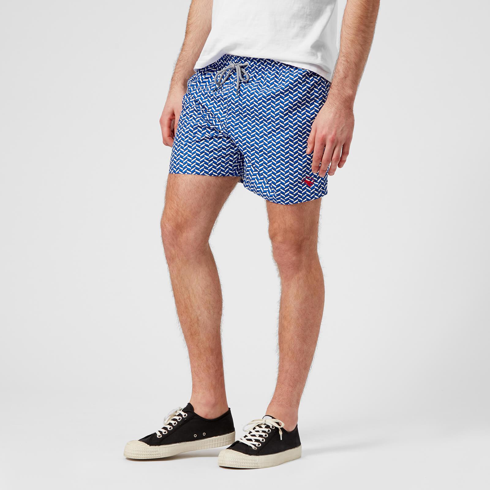 9915644347 Ted Baker Men's Caven Patterned Swim Shorts - Blue Mens Underwear |  TheHut.com