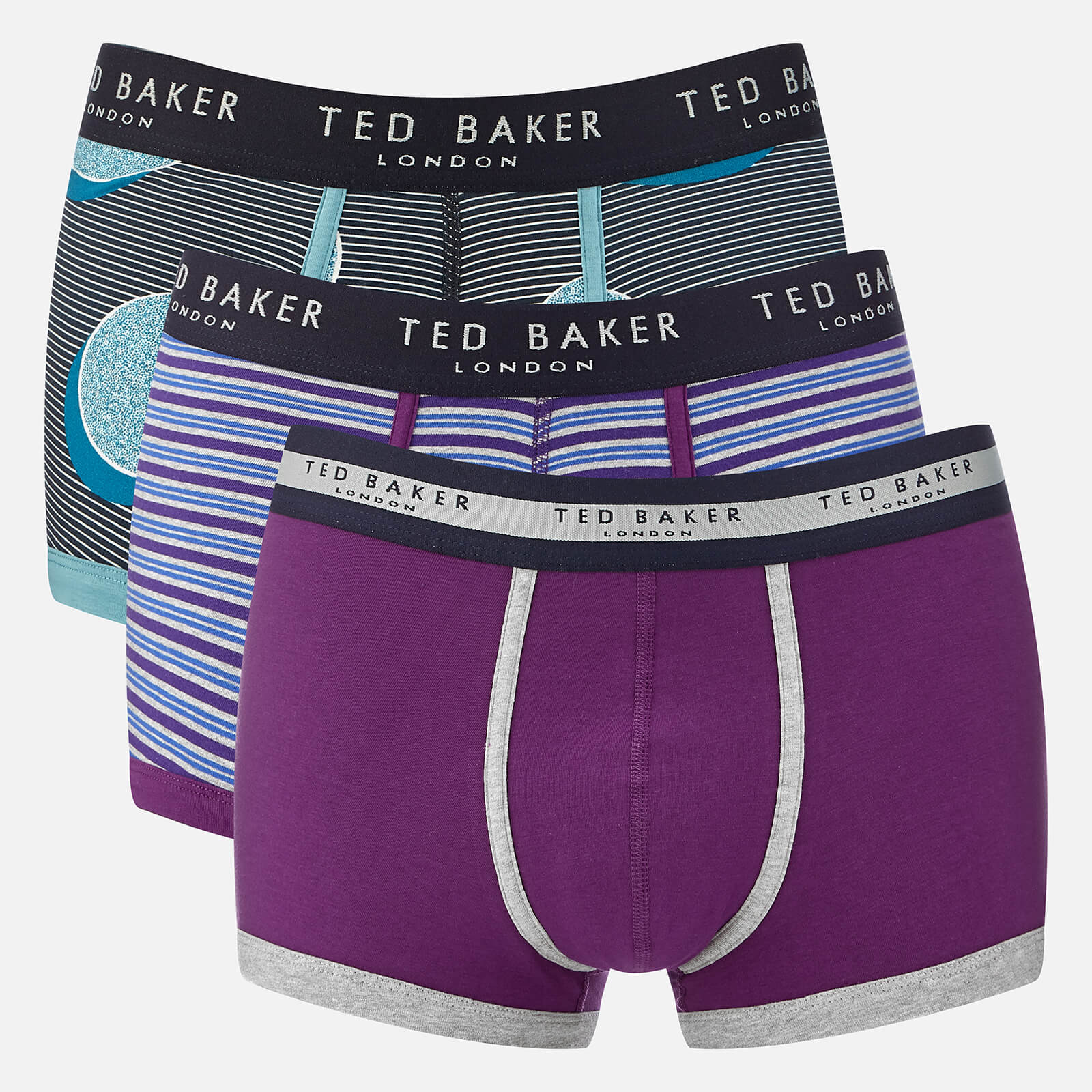 03e55ba43710bf Ted Baker Men's Kelino 3 Pack Boxer Shorts - Multi