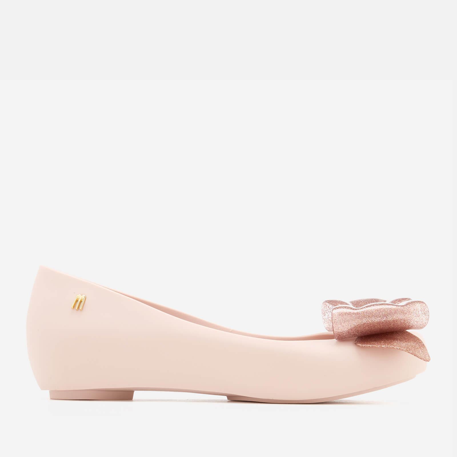 326010d1a568 Melissa Women s Ultragirl Sweet Bow 19 Ballet Flats - Blush Glitter ...