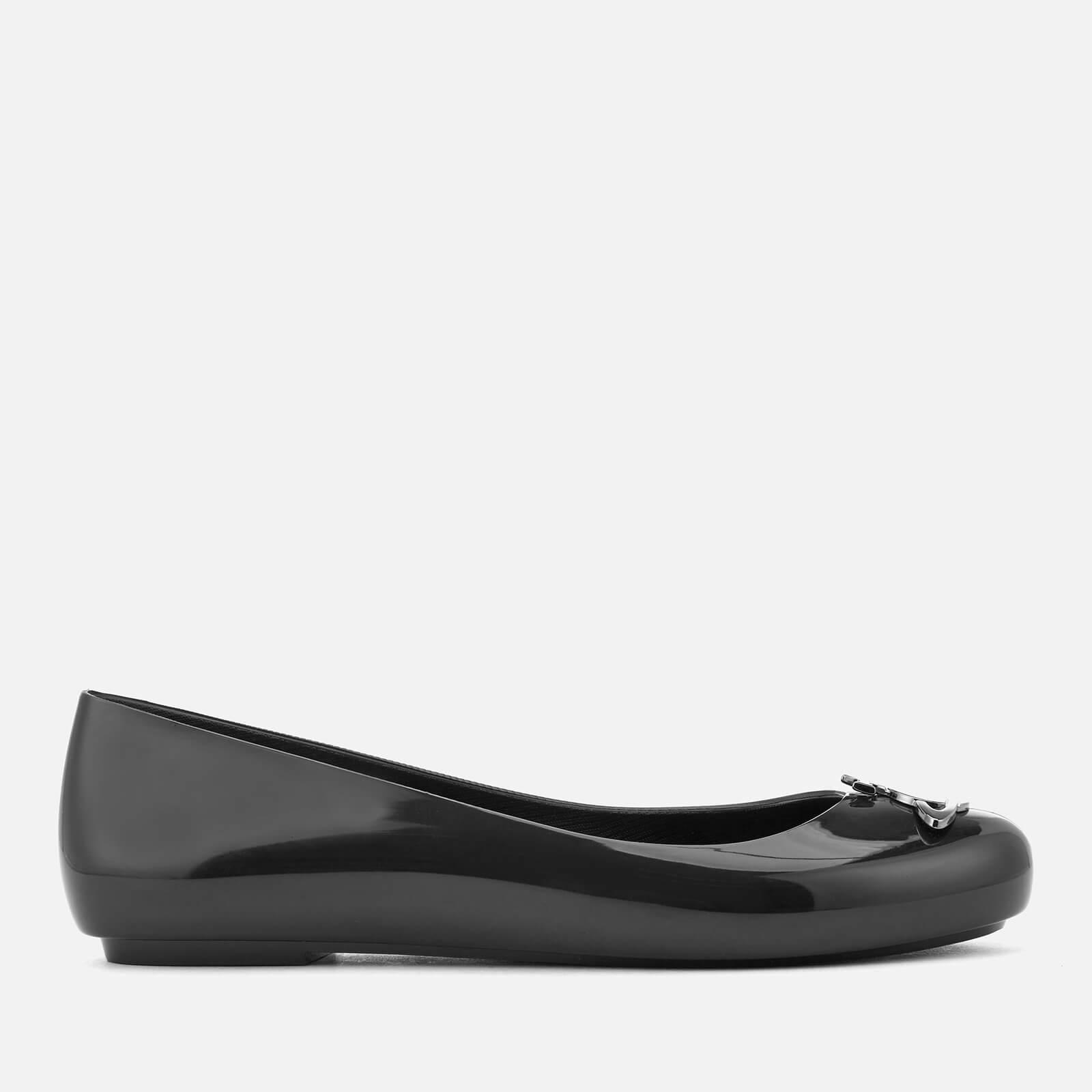 19 Ballet Flats - Black/Gun Orb
