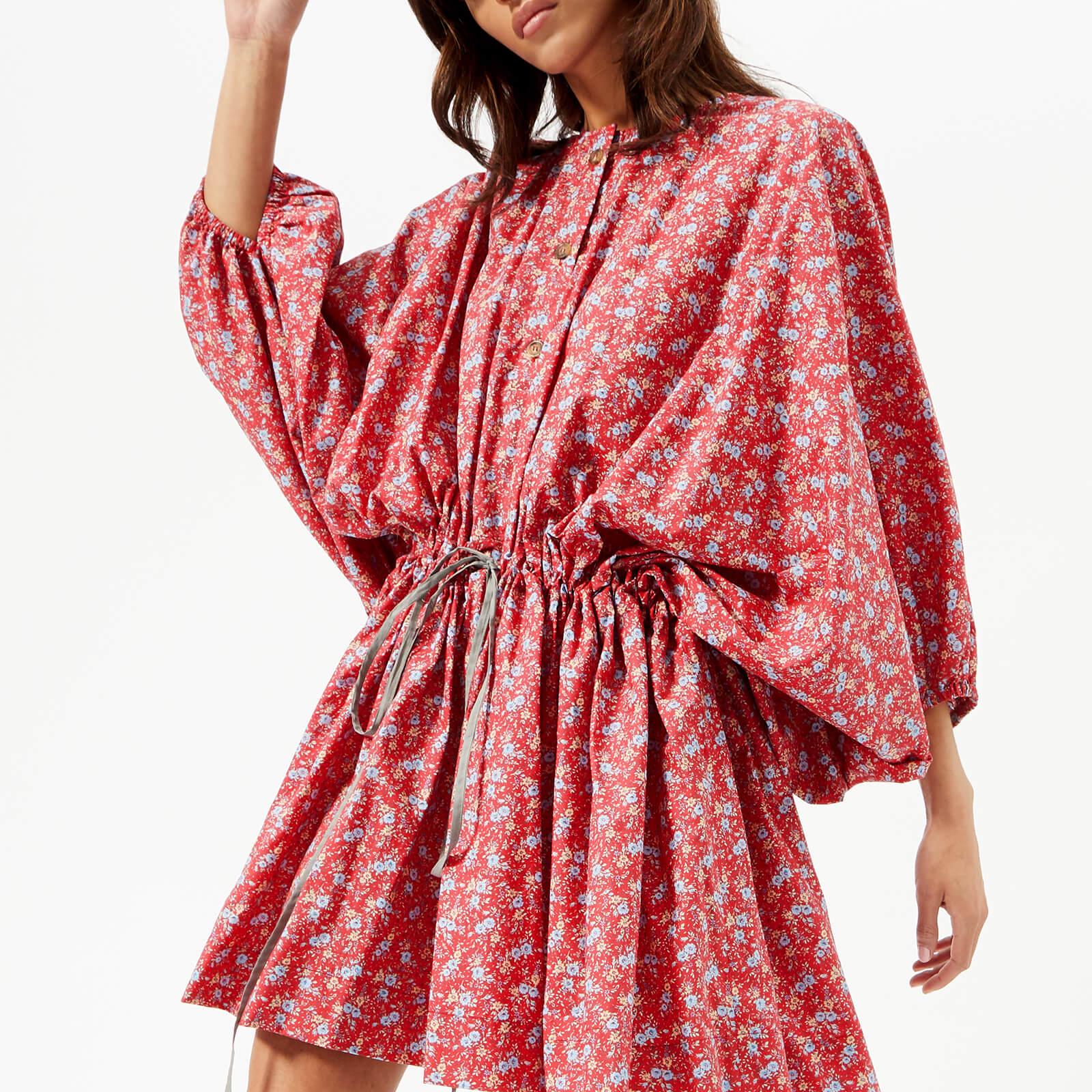 Vivienne Westwood Anglomania Women s Blast Dress - Red Flower Printed -  Free UK Delivery over £50 913af2100