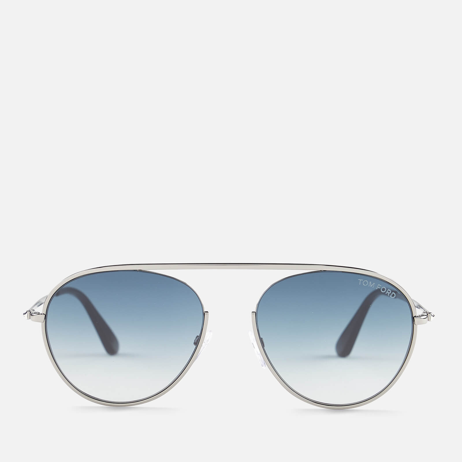 283528c47c4 Tom Ford Men s Keith Aviator Style Sunglasses - Shiny Gunmetal Gradient  Blue - Free UK Delivery over £50