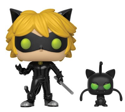 Miraculous Cat Noir with Plagg with Buddy Pop! Vinyl Figure