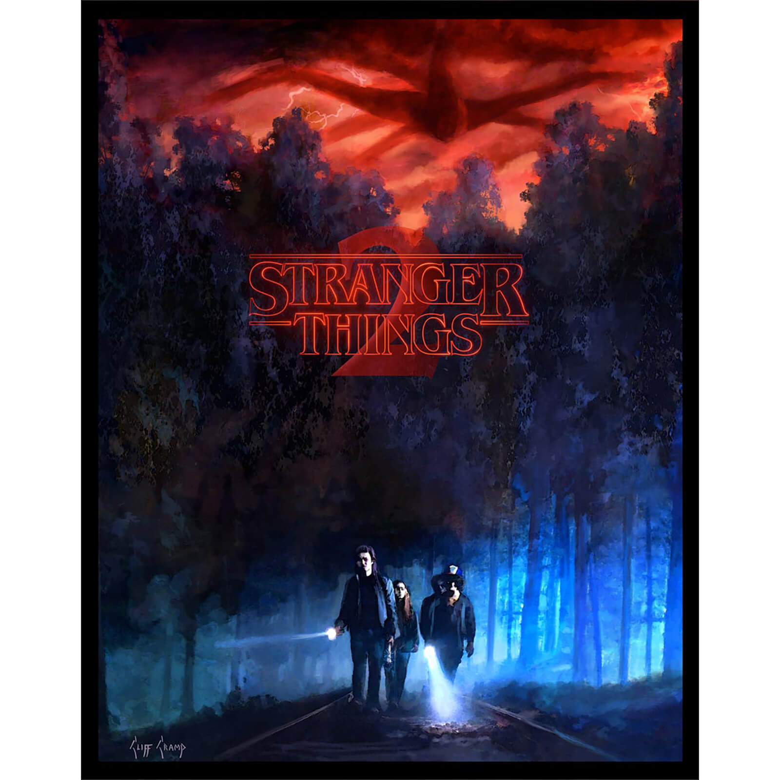 "Litografía Fosforescente Stranger Things 2 ""They"