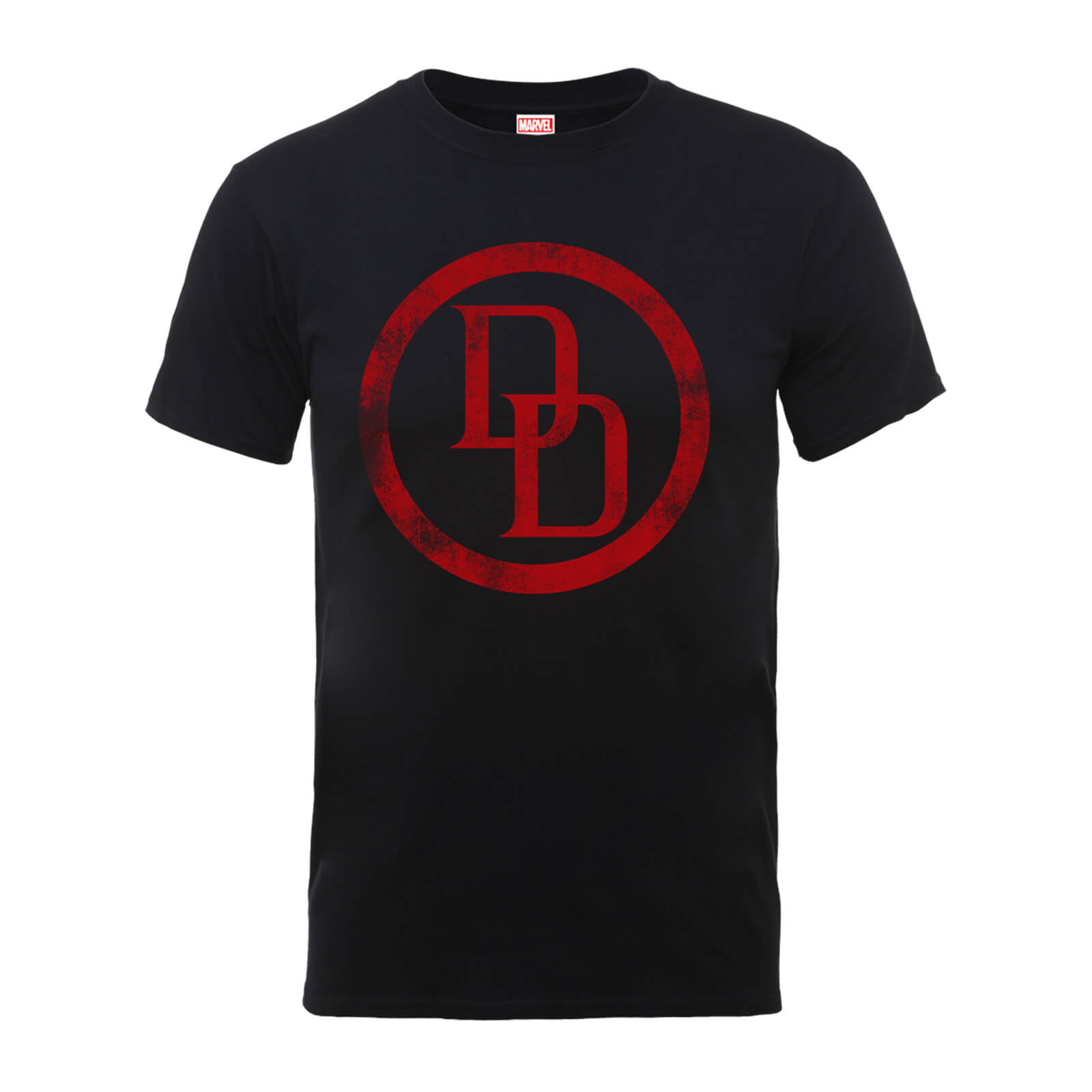 Marvel Comics Daredevil Distressed Circle Logo Men