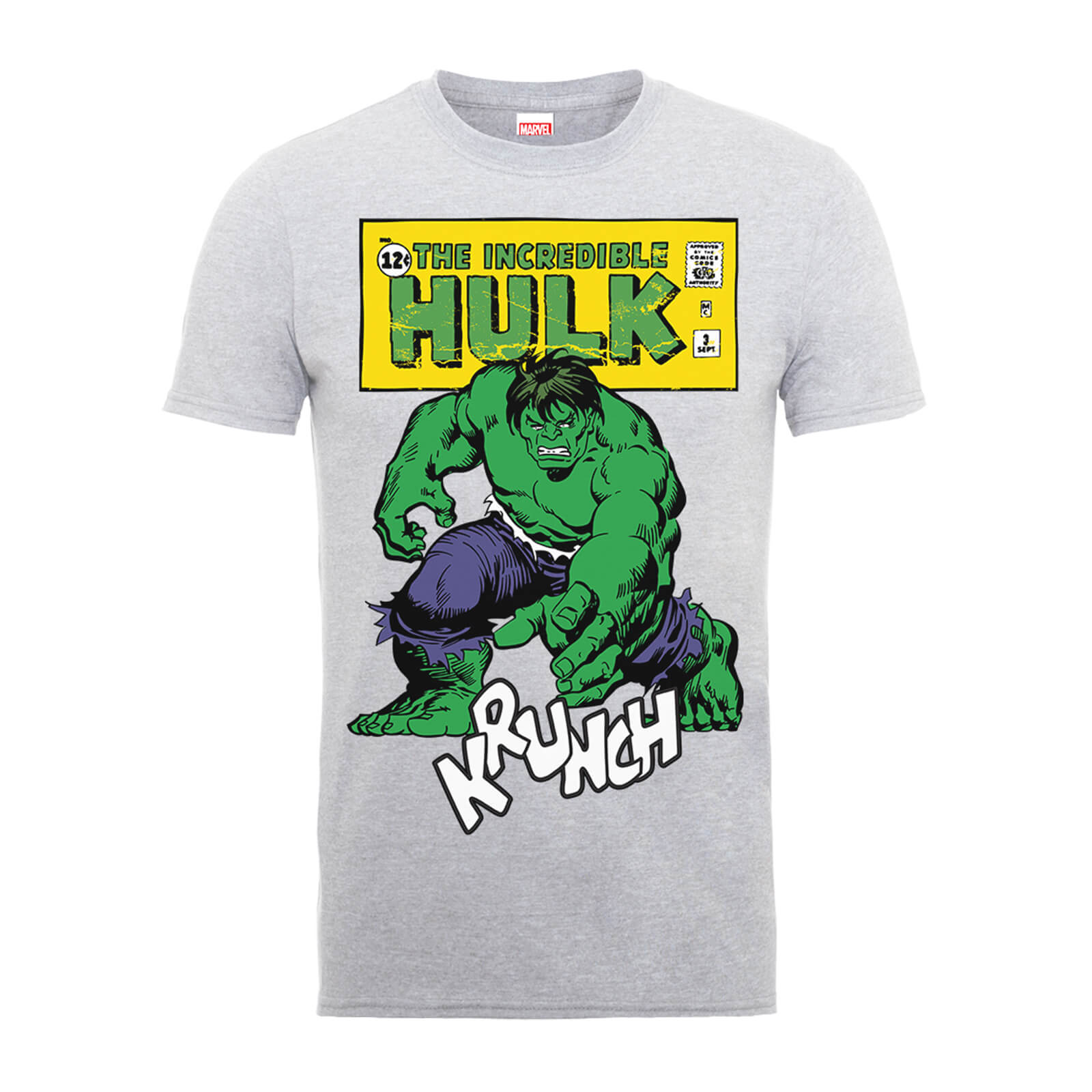 Marvel Comics The Incredible Hulk Krunch Distressed Men