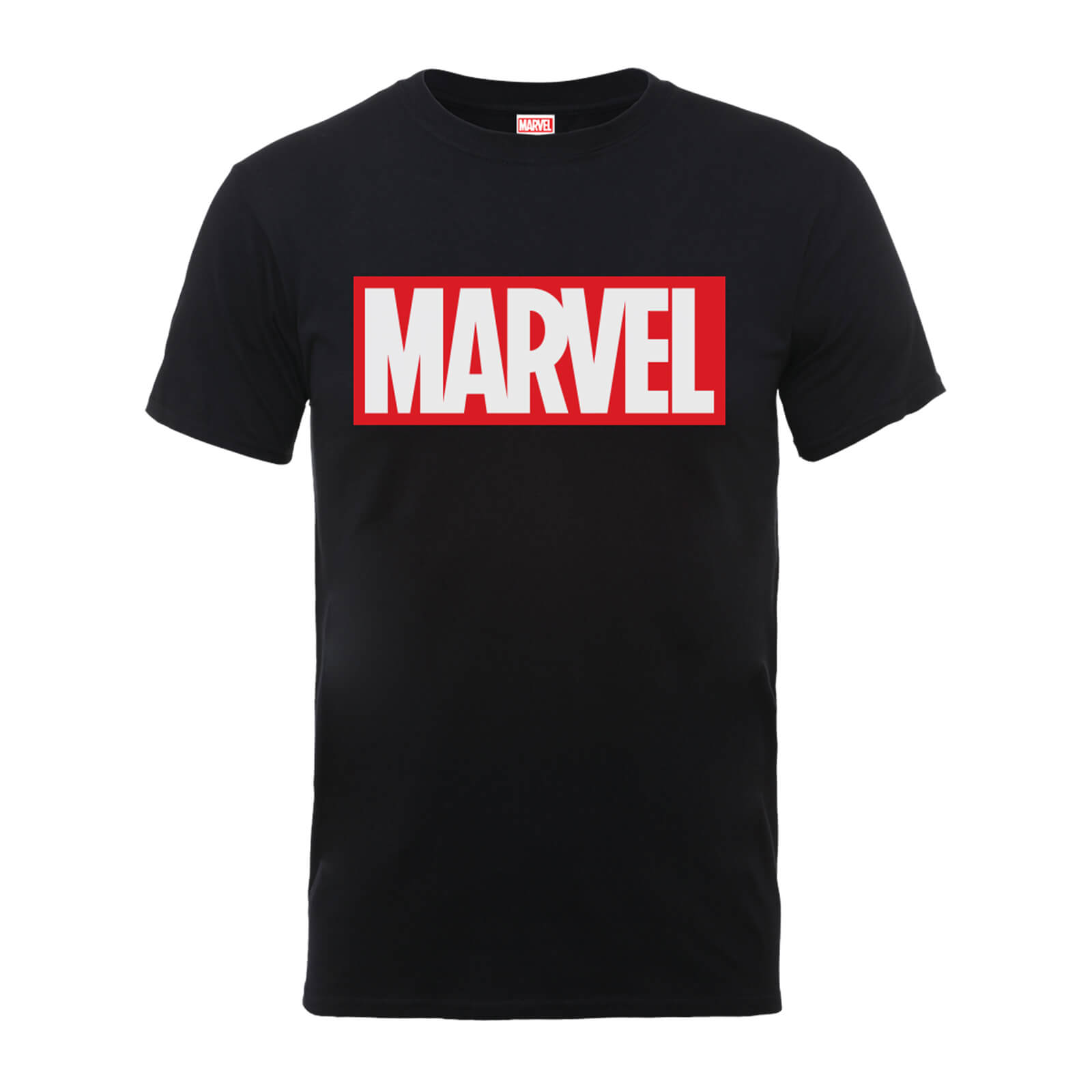 coupon codes lowest price sports shoes Marvel Main Logo Men's Black T-Shirt Clothing | Zavvi