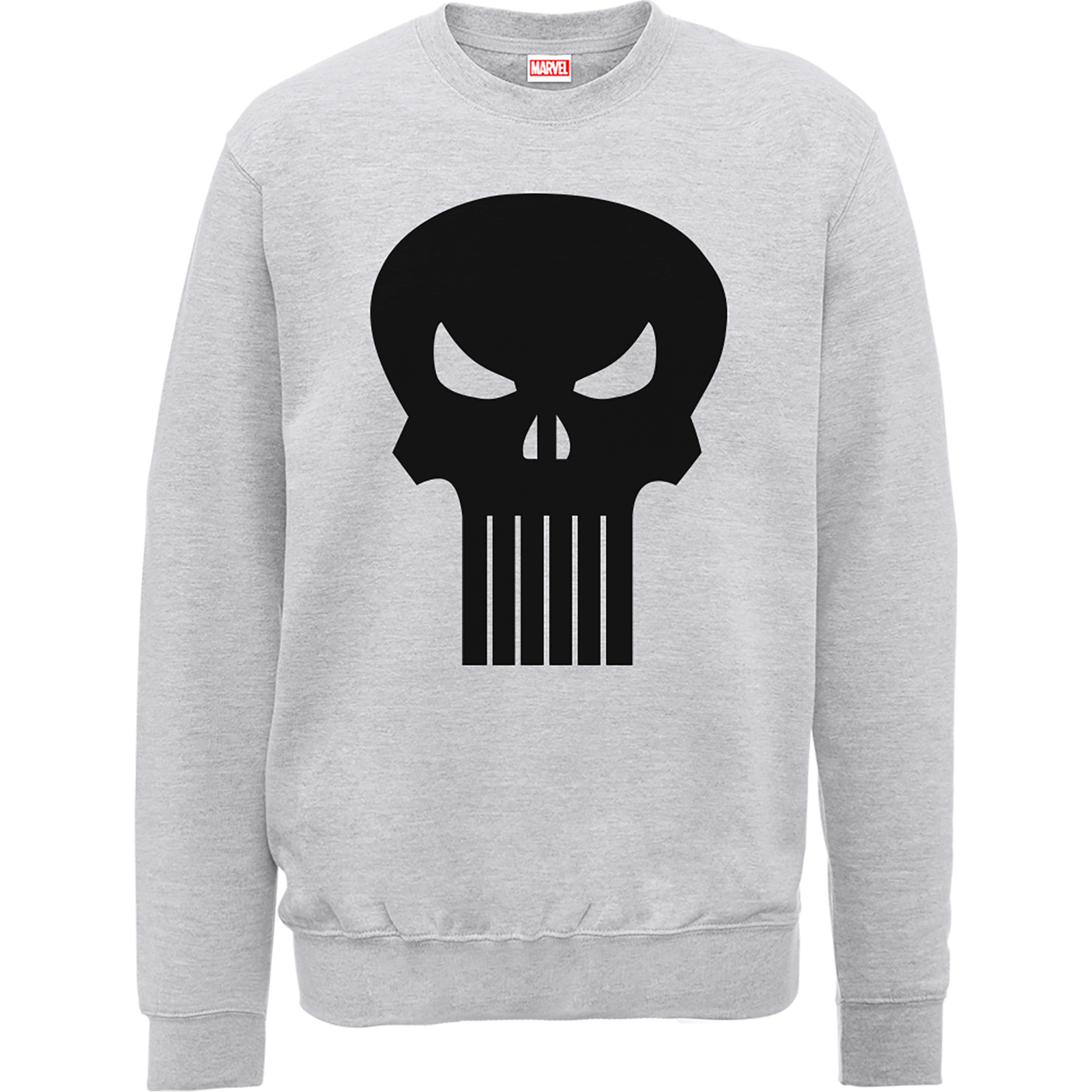 0b36c81454d3d1 Marvel The Punisher Skull Logo Grey Men's Sweatshirt Clothing | Zavvi