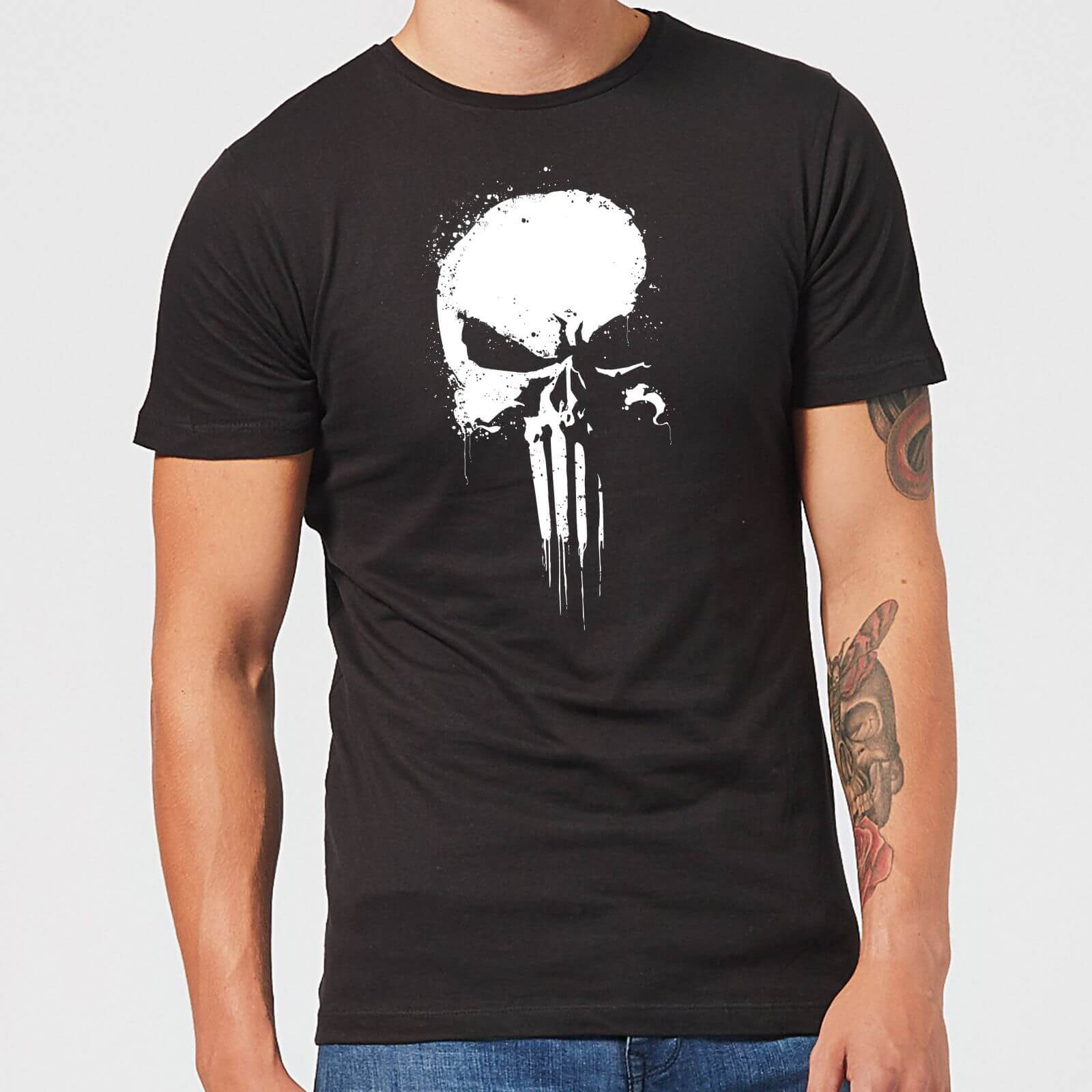 c428b6f59b9b Marvel The Punisher Paintspray Men's Black T-Shirt Clothing | Zavvi